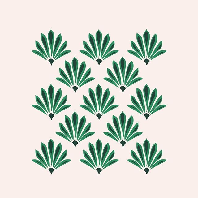 A preview of something I'm working on. 🌿 This little pattern forms part of a new brand identity I'm working on for a Pilates studio. . The instructor/owner is very positive and cheerful, and her desire is for each session to feel as good as having a cup of tea with a friend. She's a Spring personality through and through. ☺️ . Inspo ideas like 'Art Deco' and 'quirky' came up in our back & forth emailing... Do you think I nailed it?