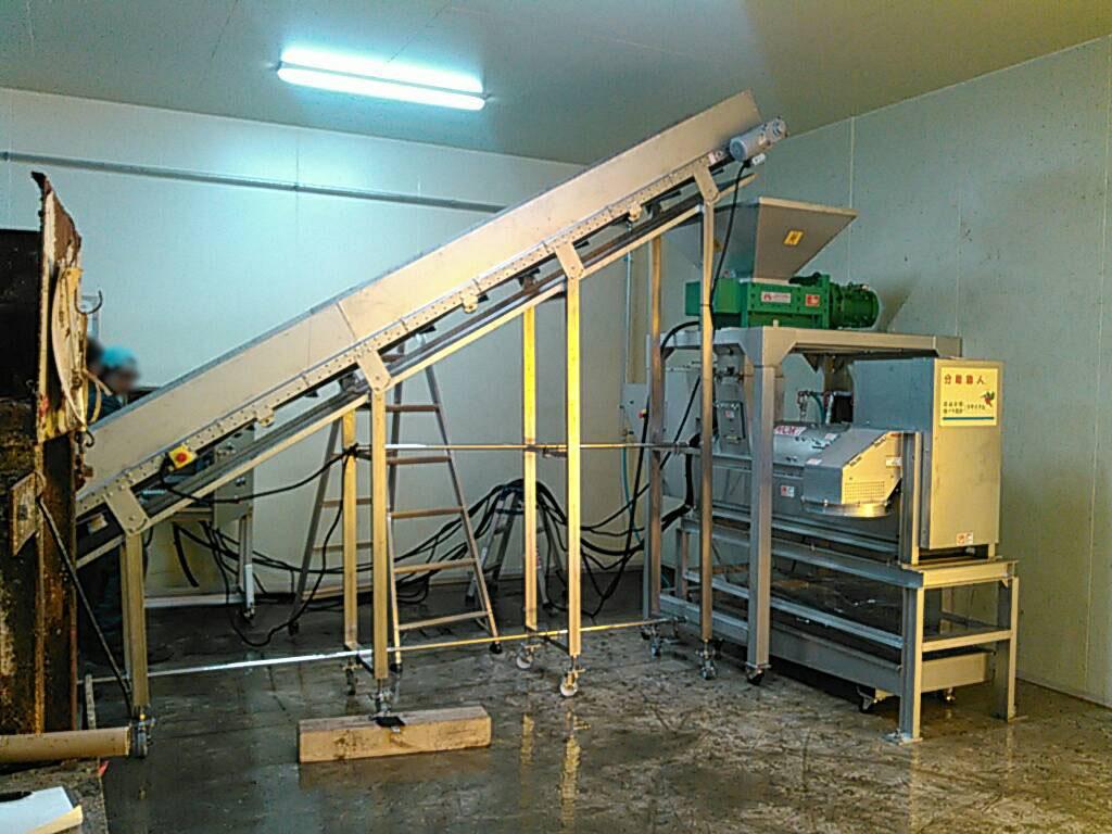 廃プラ洗浄機 導入事例2