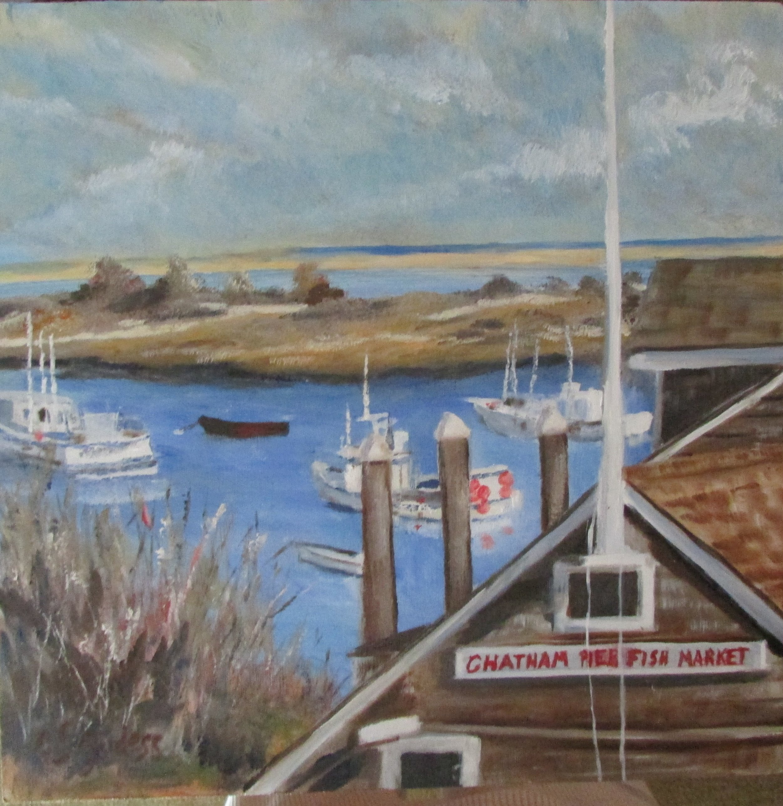 Chatham Fish Market 12x12 Oil $275