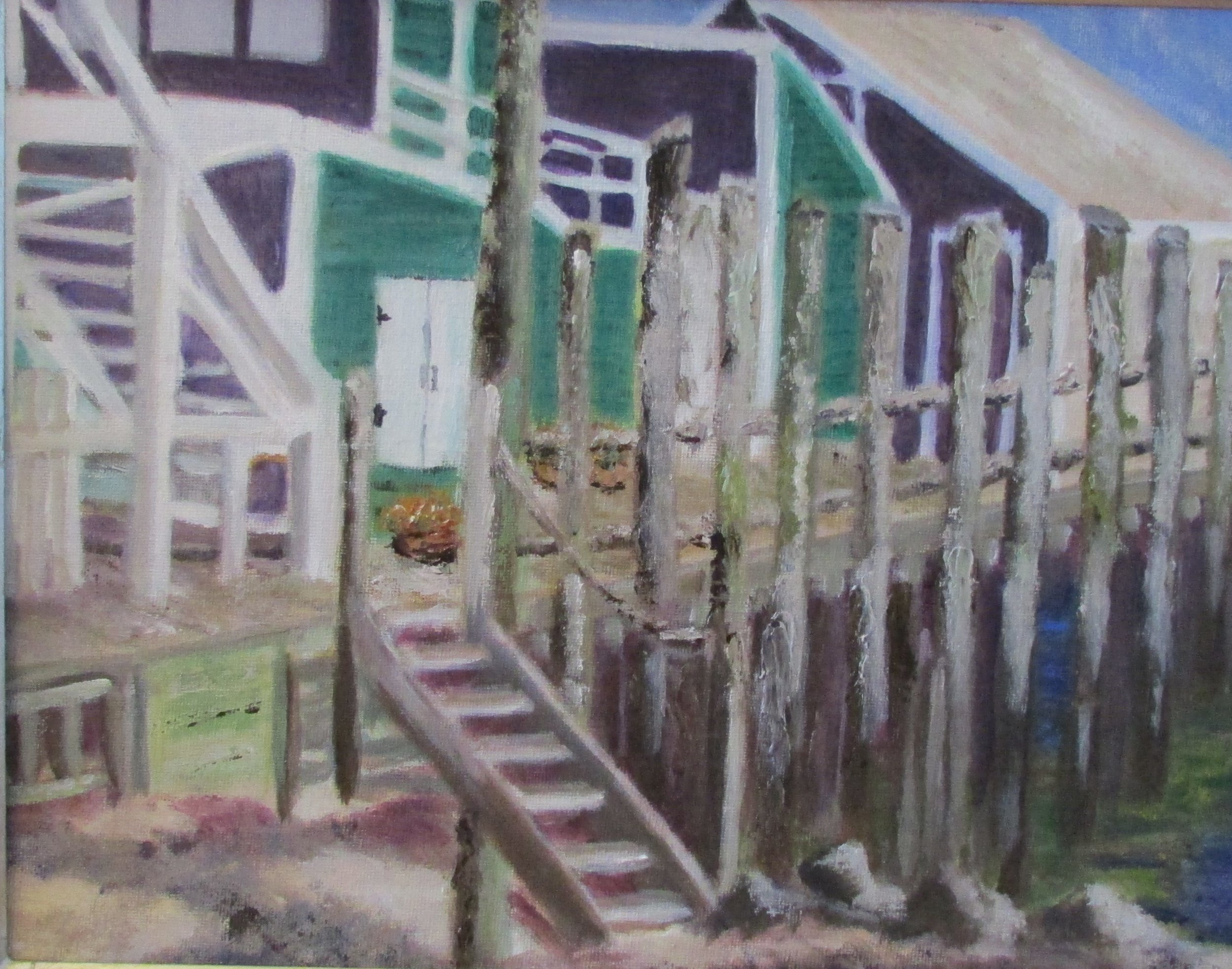 Old Wharf  11x14 Oil  $290