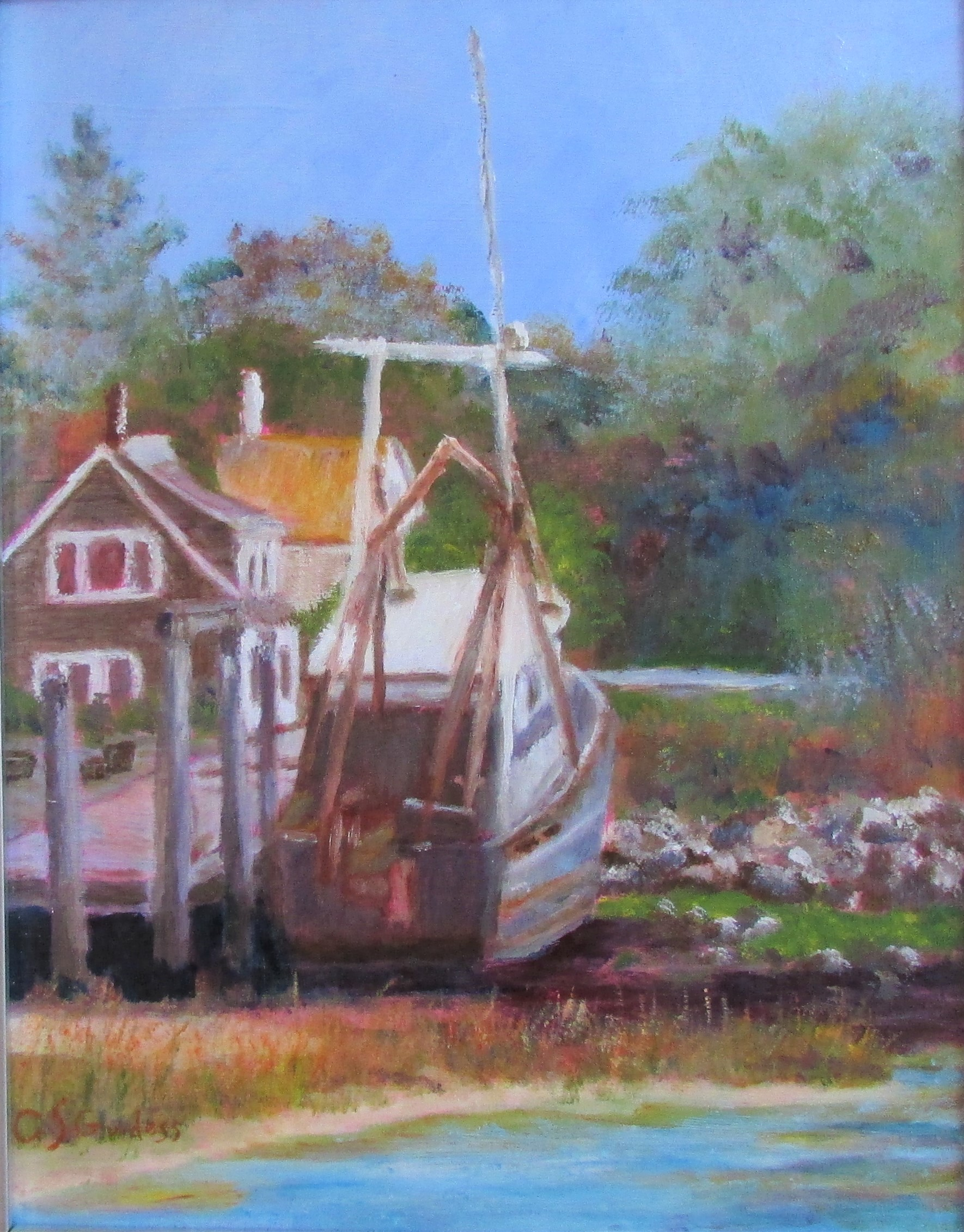 Moored 14x11 Oil $290
