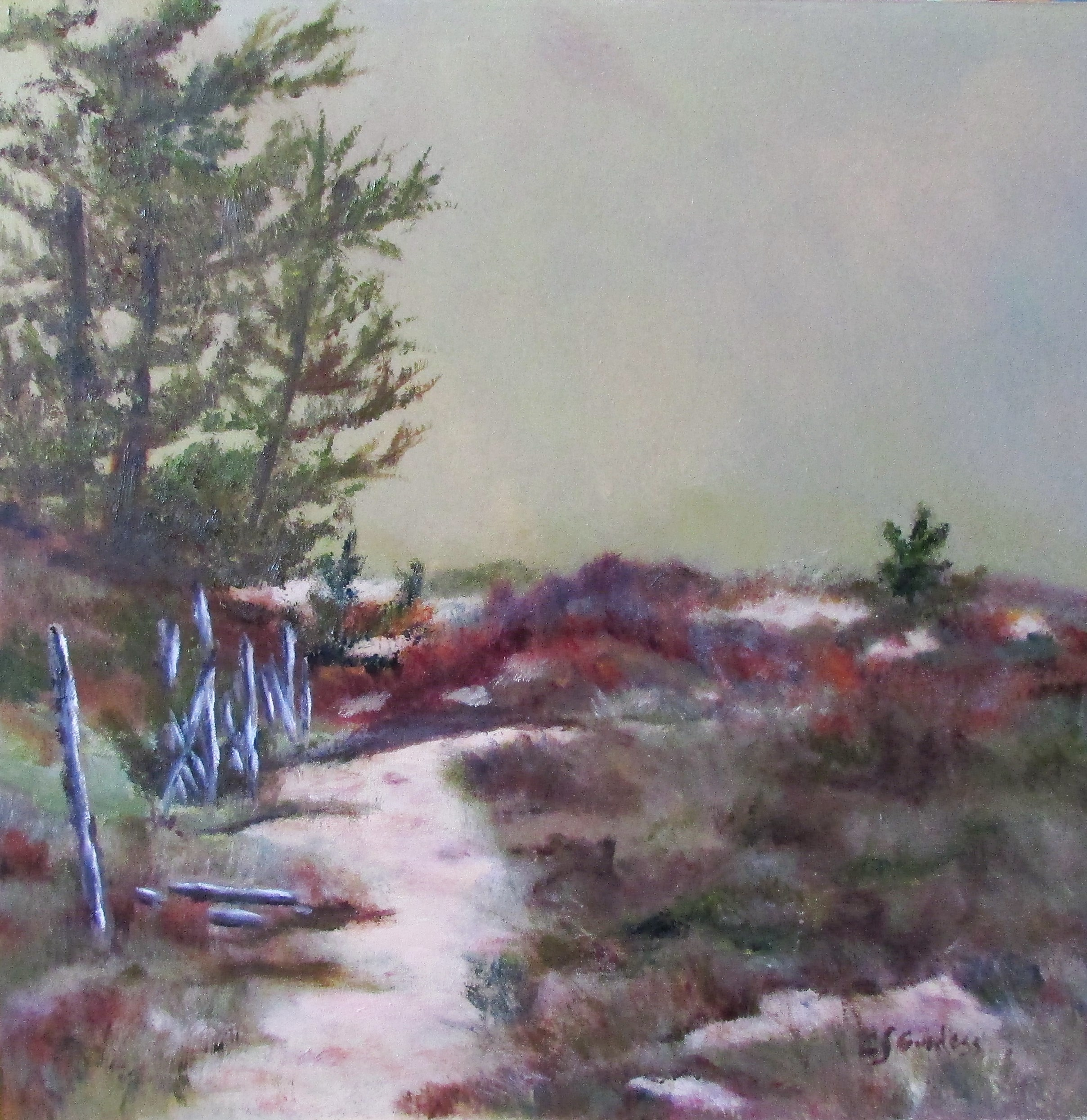 Path To Beach II 16x16 Oil $325