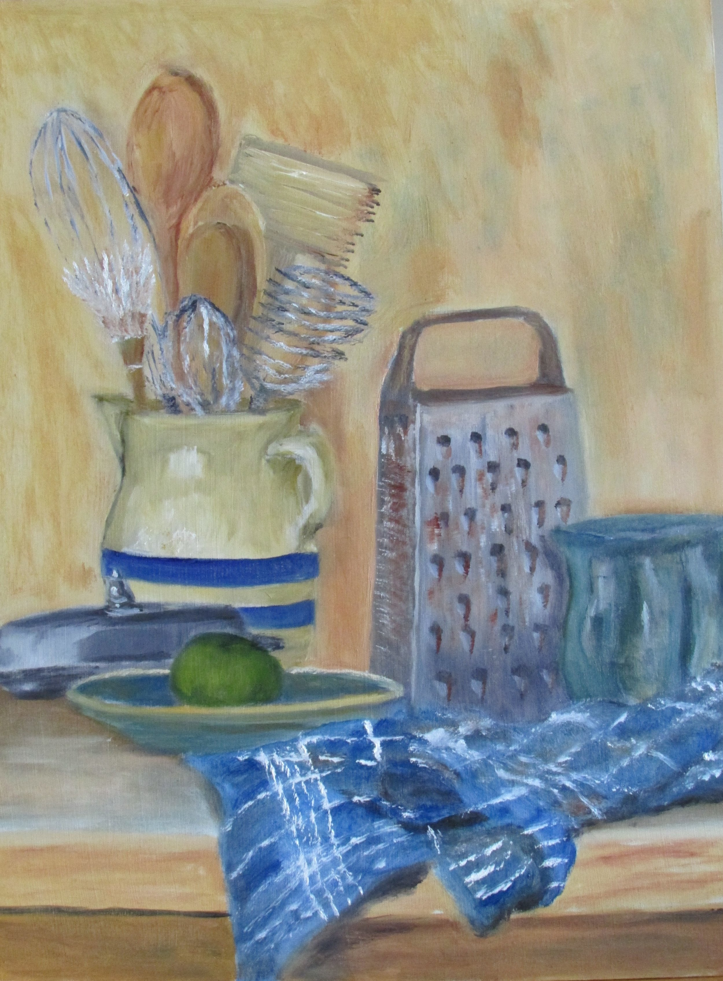 Still Life with Pitcher 16x12 Oil $295