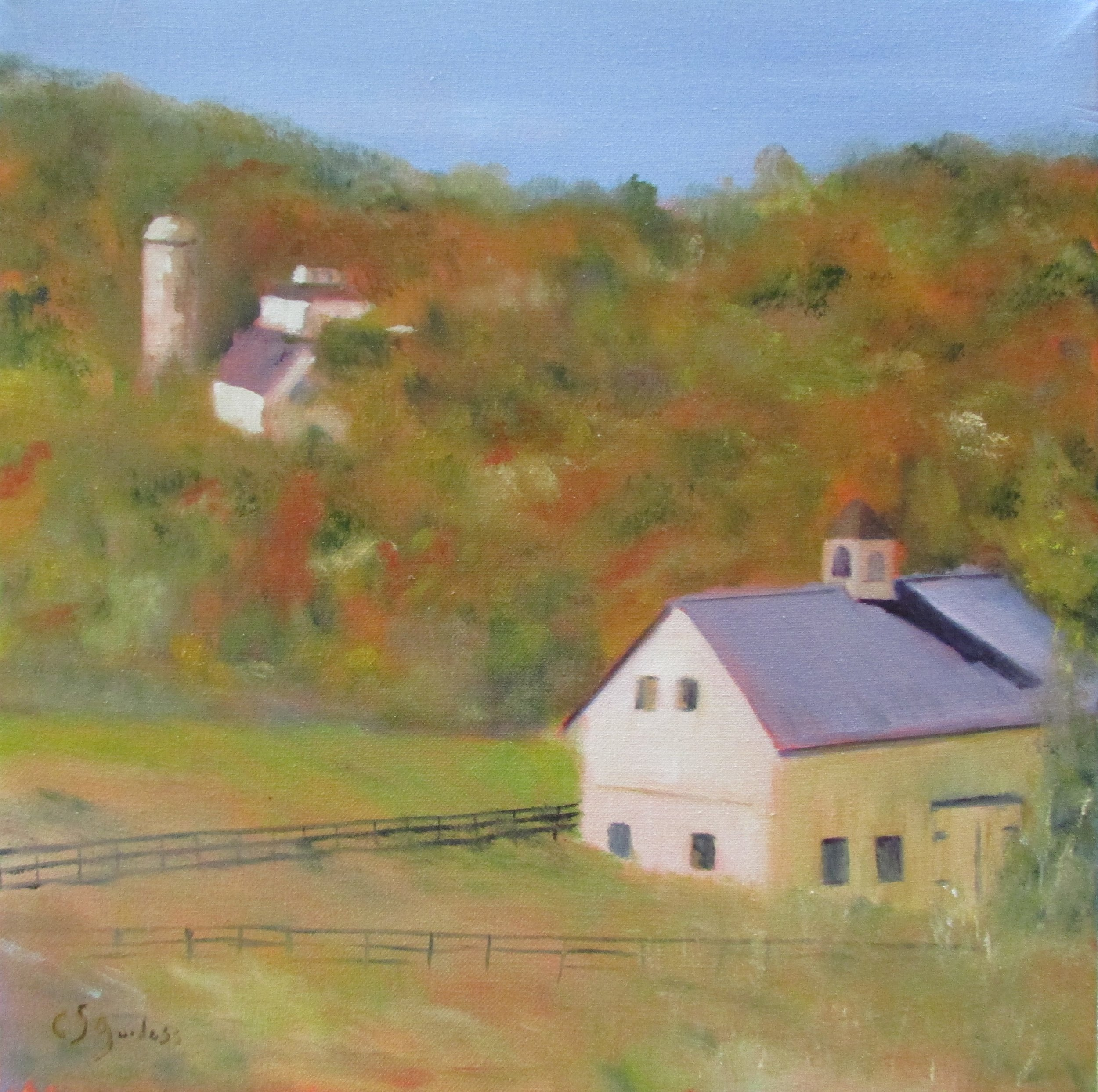 Yellow Barn 16x16 Oil $300