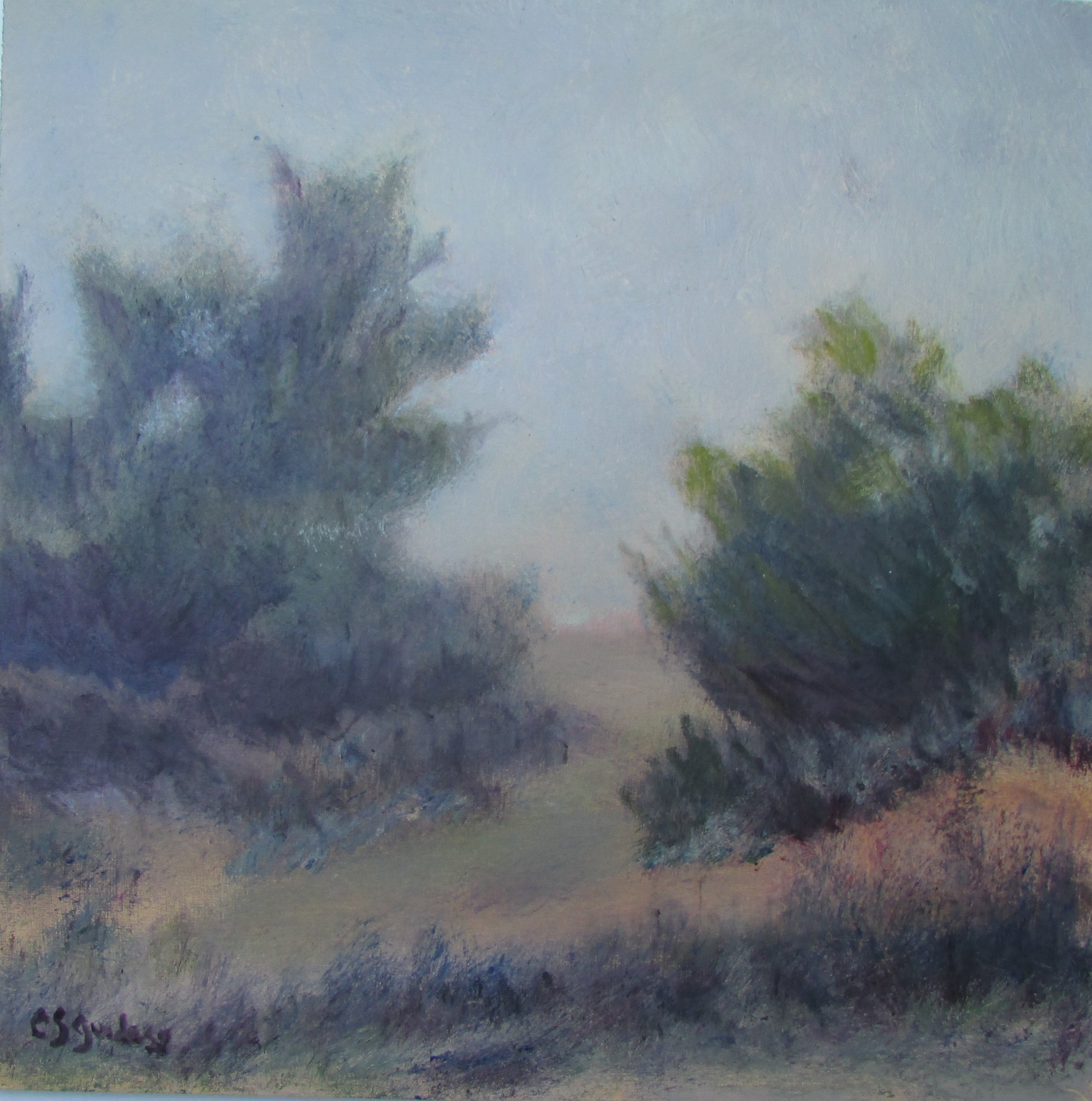 Path Through Mist 12x12 Oil $225