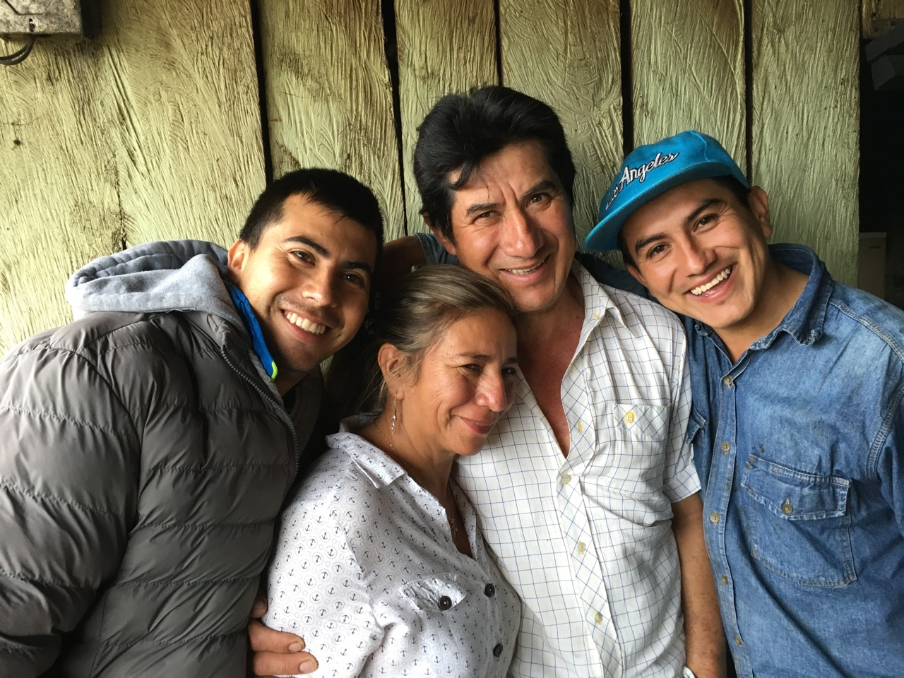 Maria with her husband Jose Erazo, and sons Diego and Daniel.