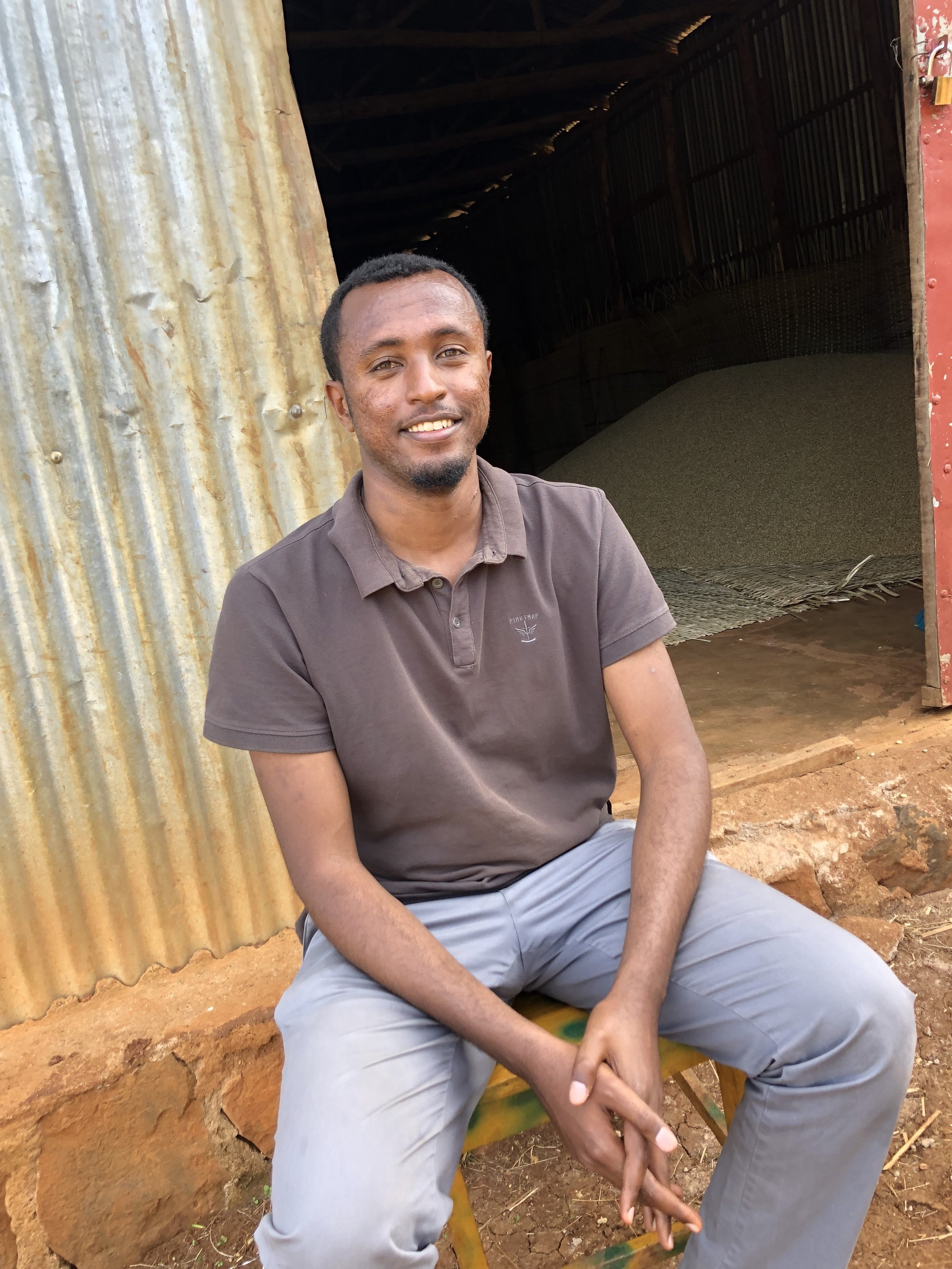 Abenezer Asfaw, Supply Chain Manager for Snap Specialty Coffee, our new partners in Ethiopia
