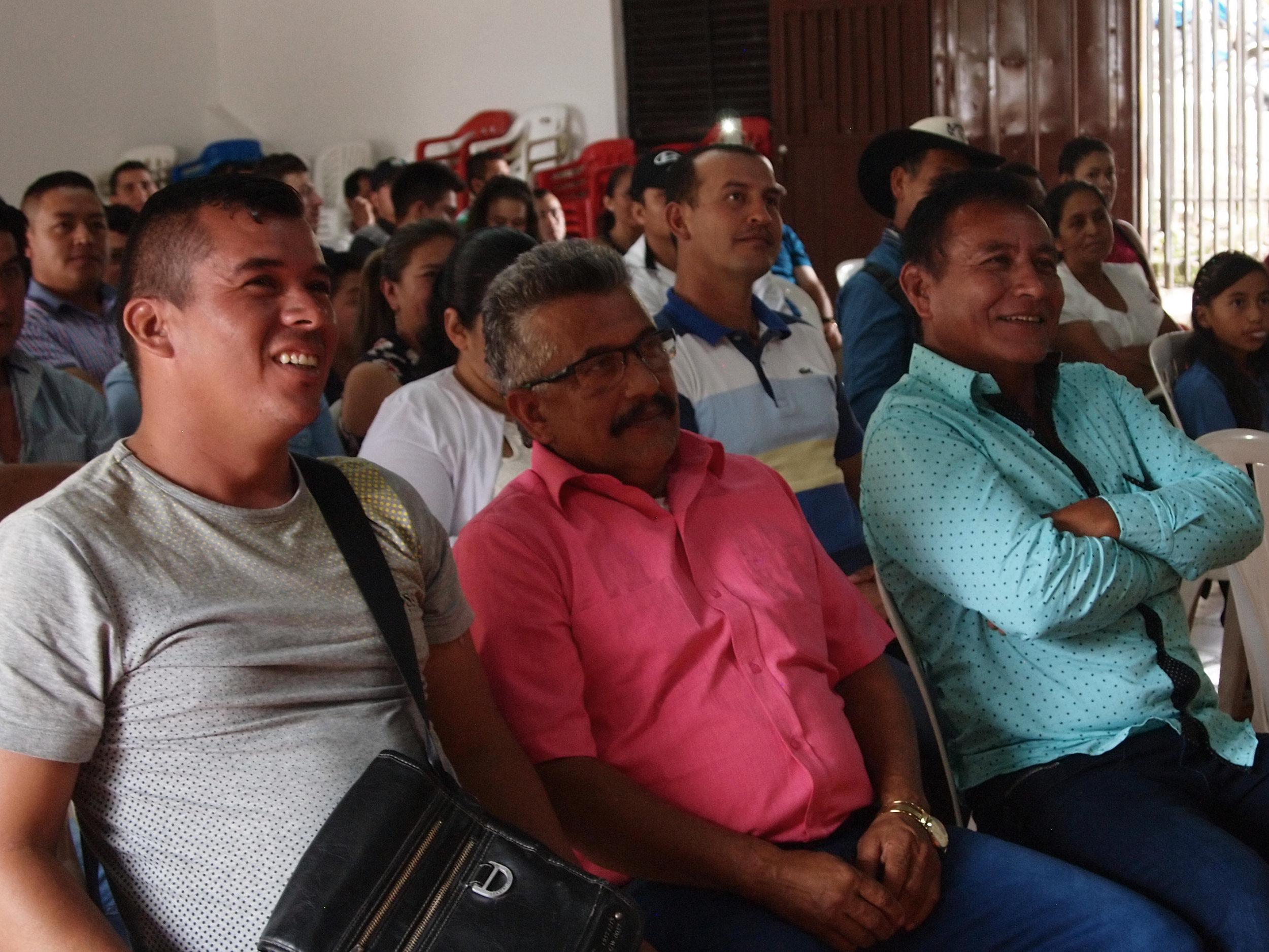 Jhon Molano, Ivan Molano and  Hernando Gomez, producers from Planadas, Tolima