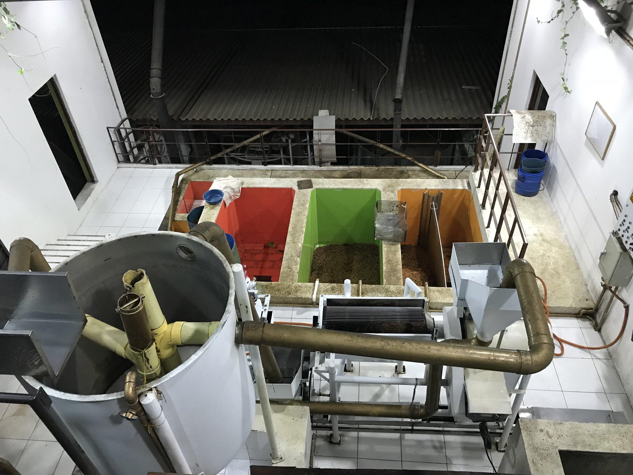 Processing facilities at La Palma y El Tucan