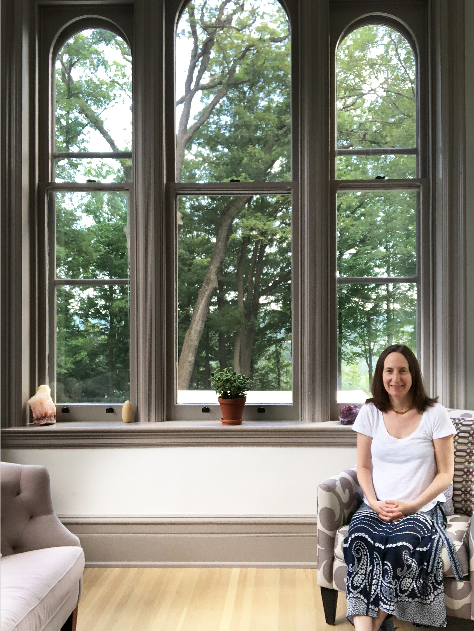 Contact me. - With windows on three sides overlooking old-growth trees, this space is perfect for deep healing.I welcome you in Dundas or by Skype.