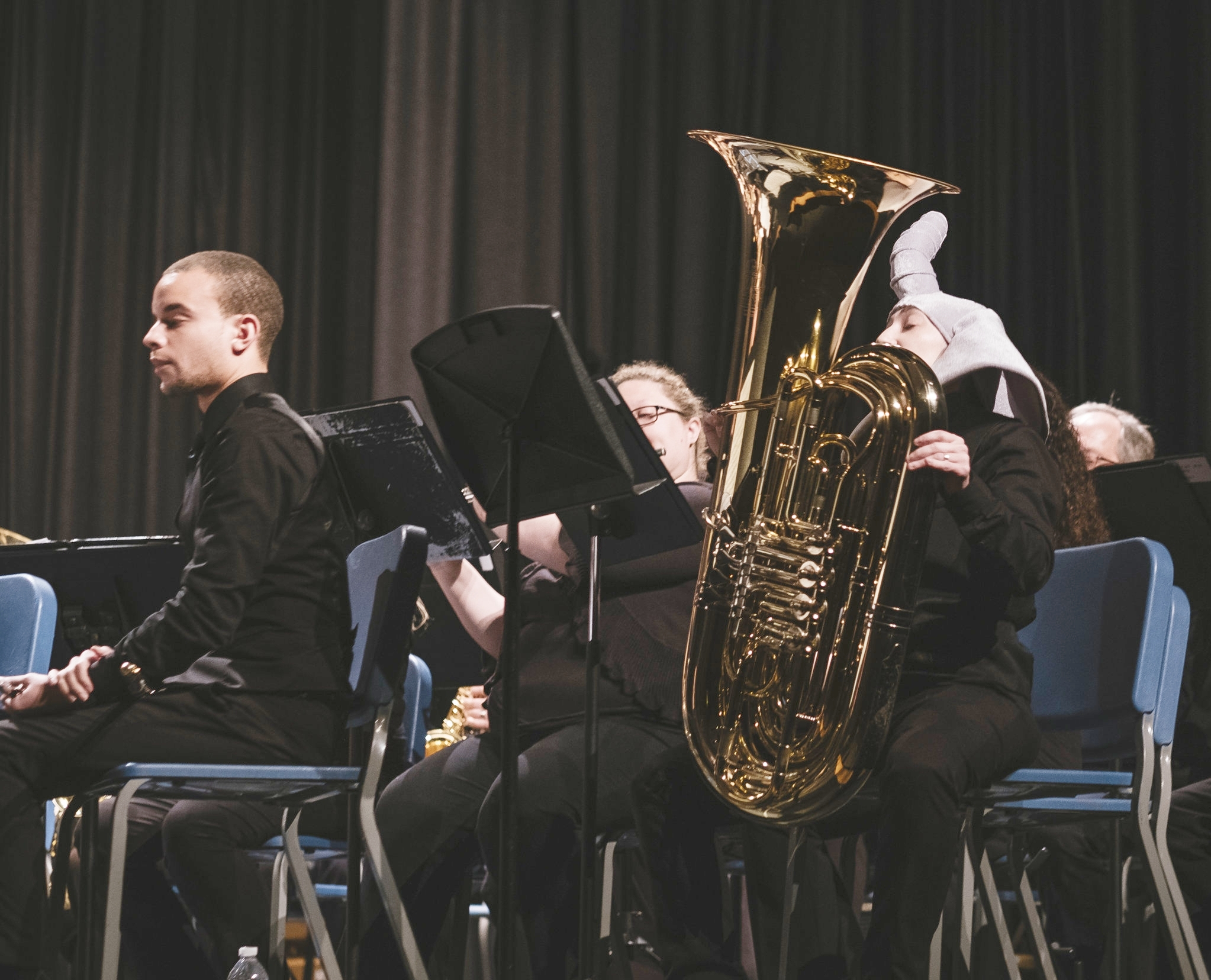 Ron Campo, piccolo, and Mel Cheyette, tuba, performing  The Elephant and the Fly