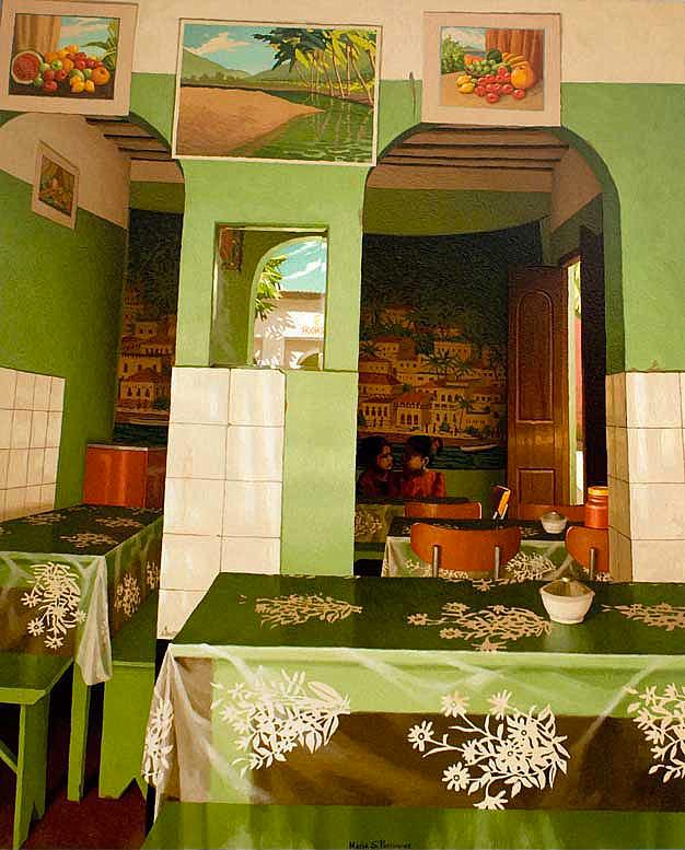 Restaurant vert au Kenya