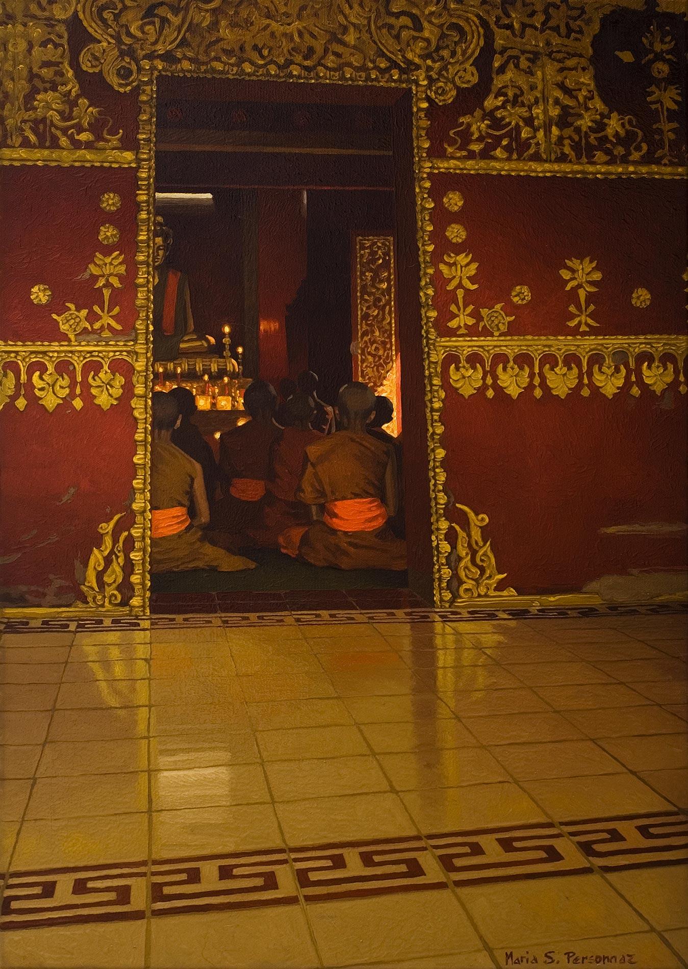 Temple rouge à Luang Phrabang