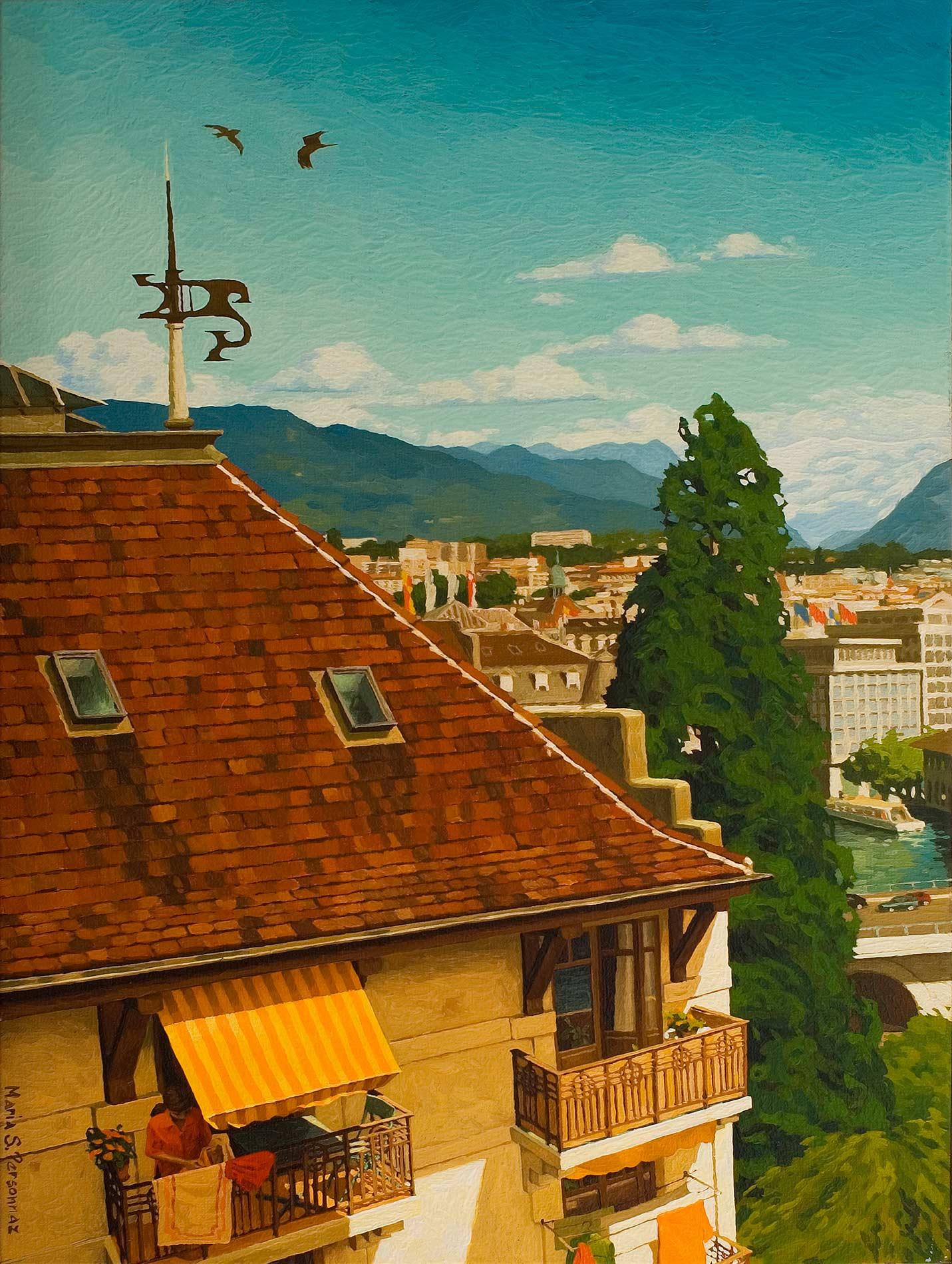Vue sur l'Est, Genève