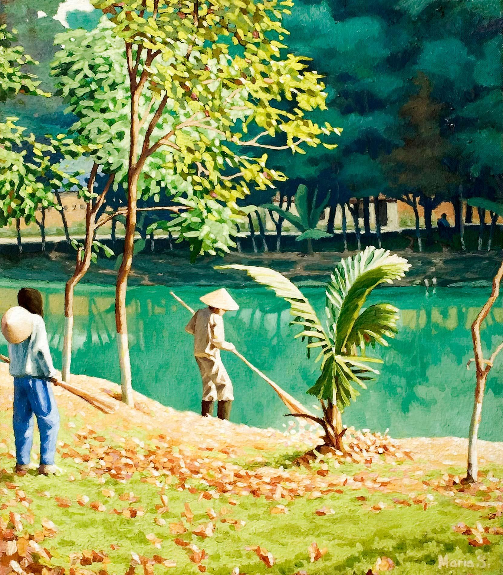 Le parc Bach Thao en décembre, Hanoi