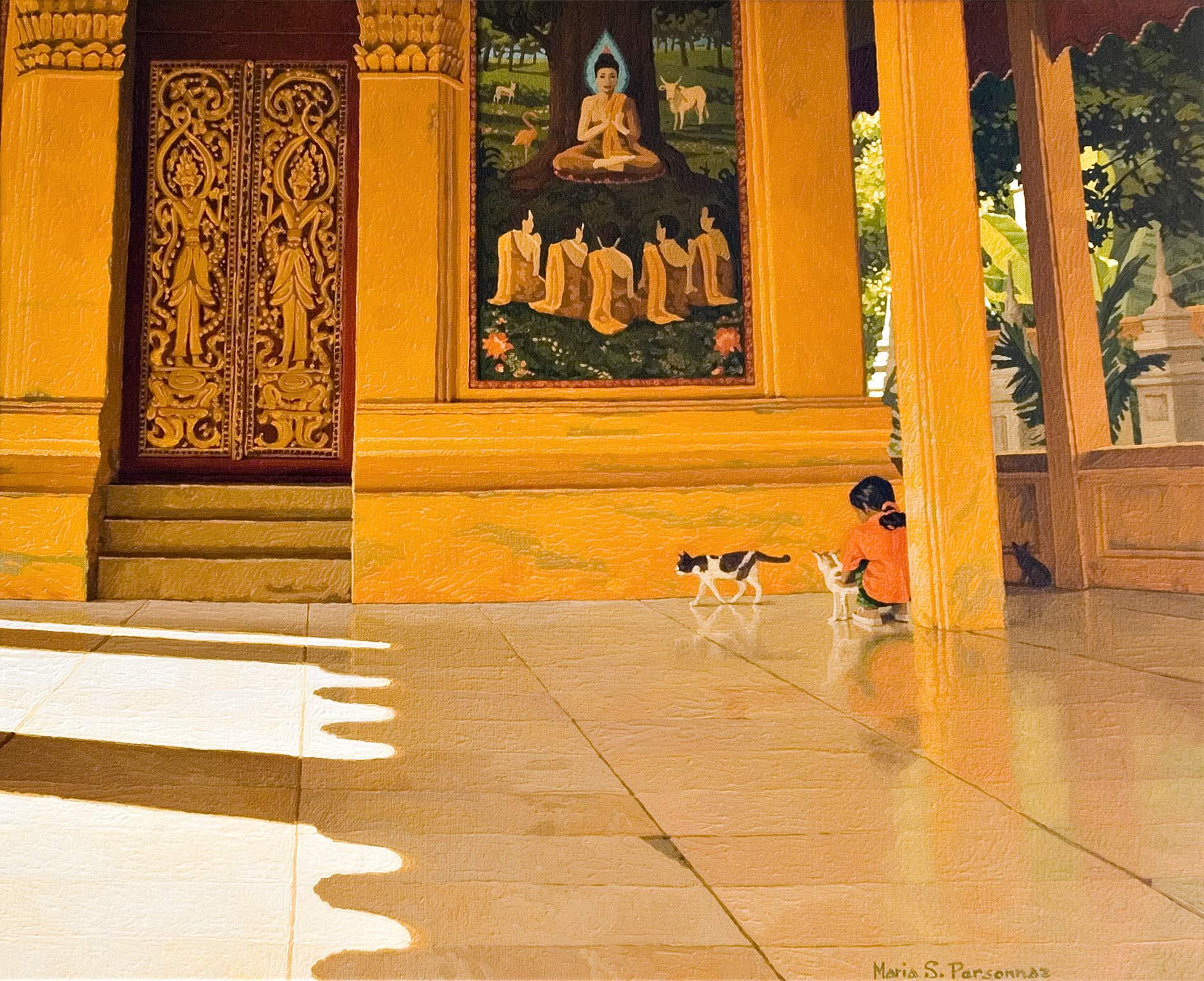 Temple jaune à Vientiane