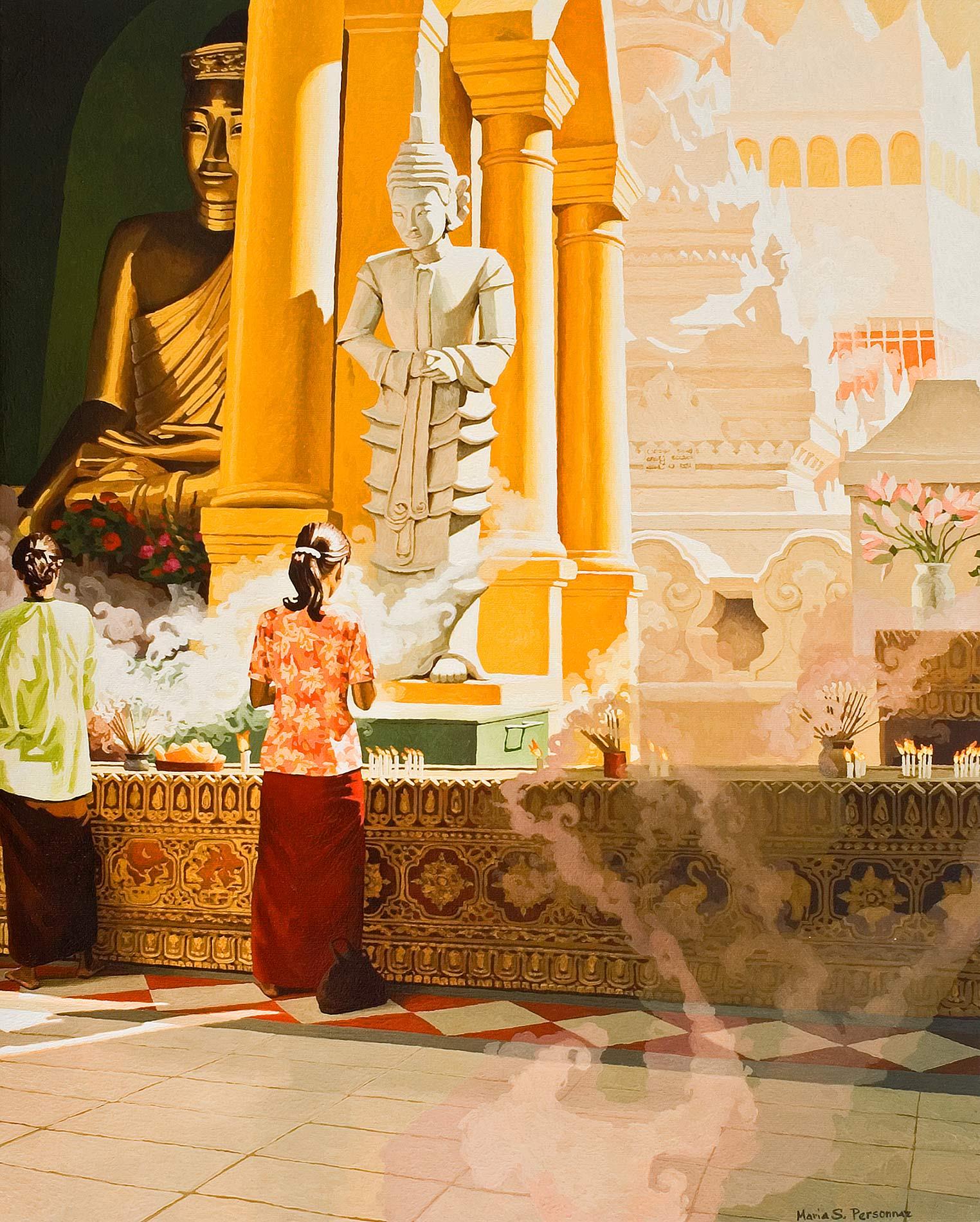 Prières et encens, Yangon