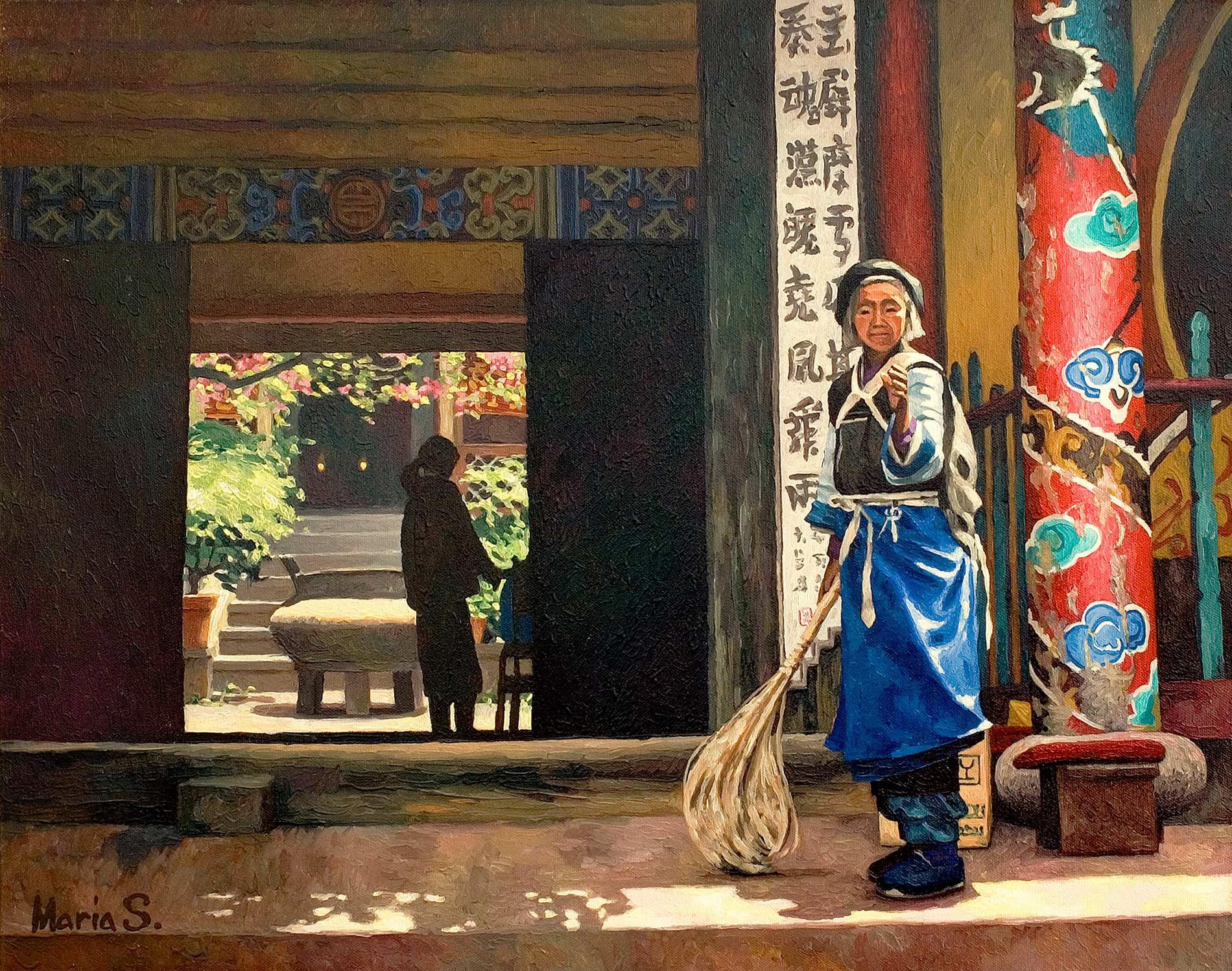 Temple à Lijiang, Yunan