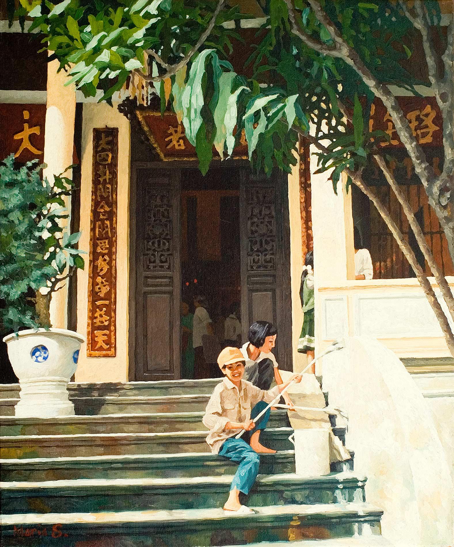 Travaux de peinture à Quan Su, Hanoi