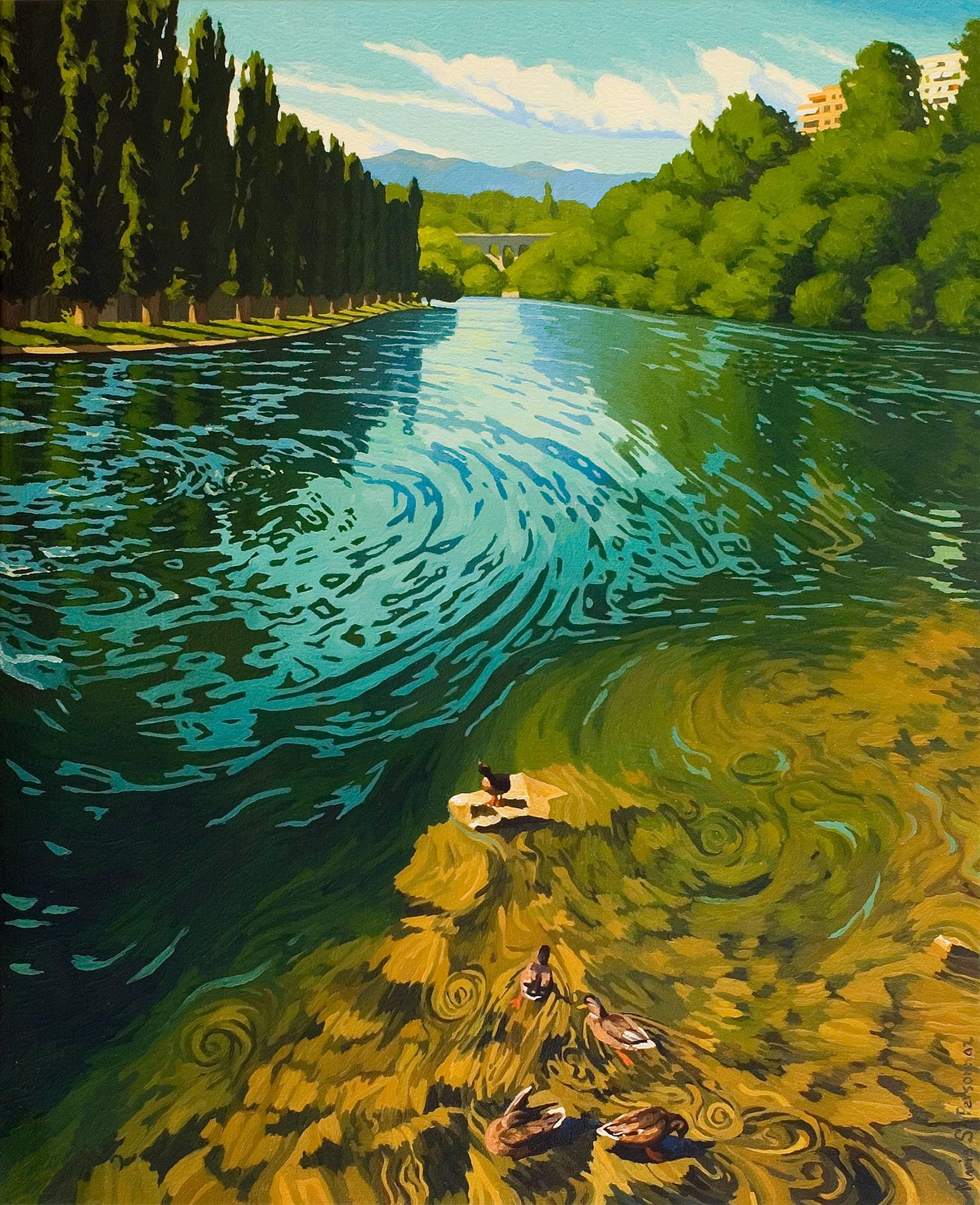 Le Rhône à la Jonction, Genève