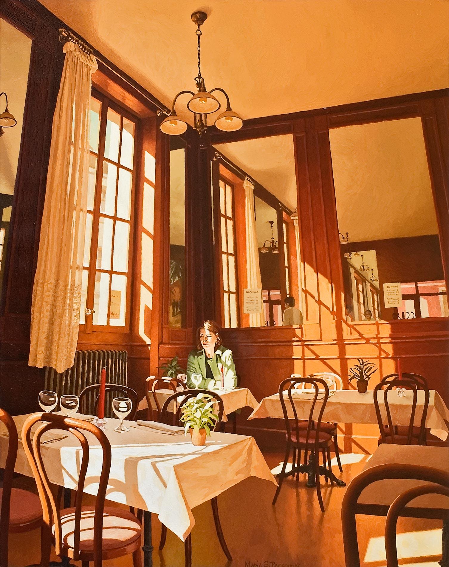 Afternoon at the Café des Halles, Carouge (1)
