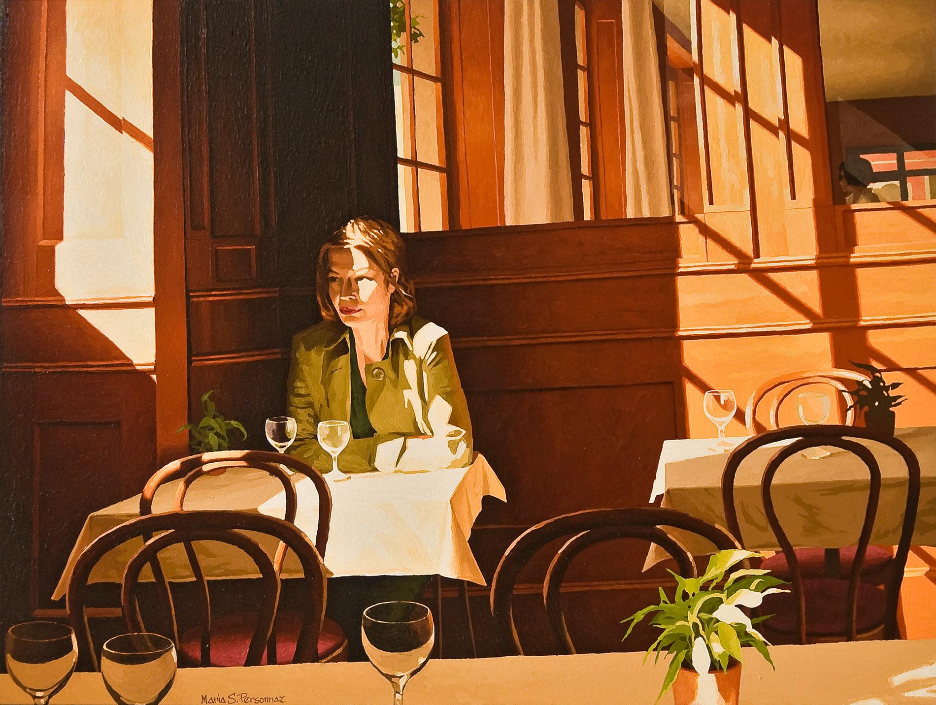 Afternoon at the Café des Halles, Carouge (2)