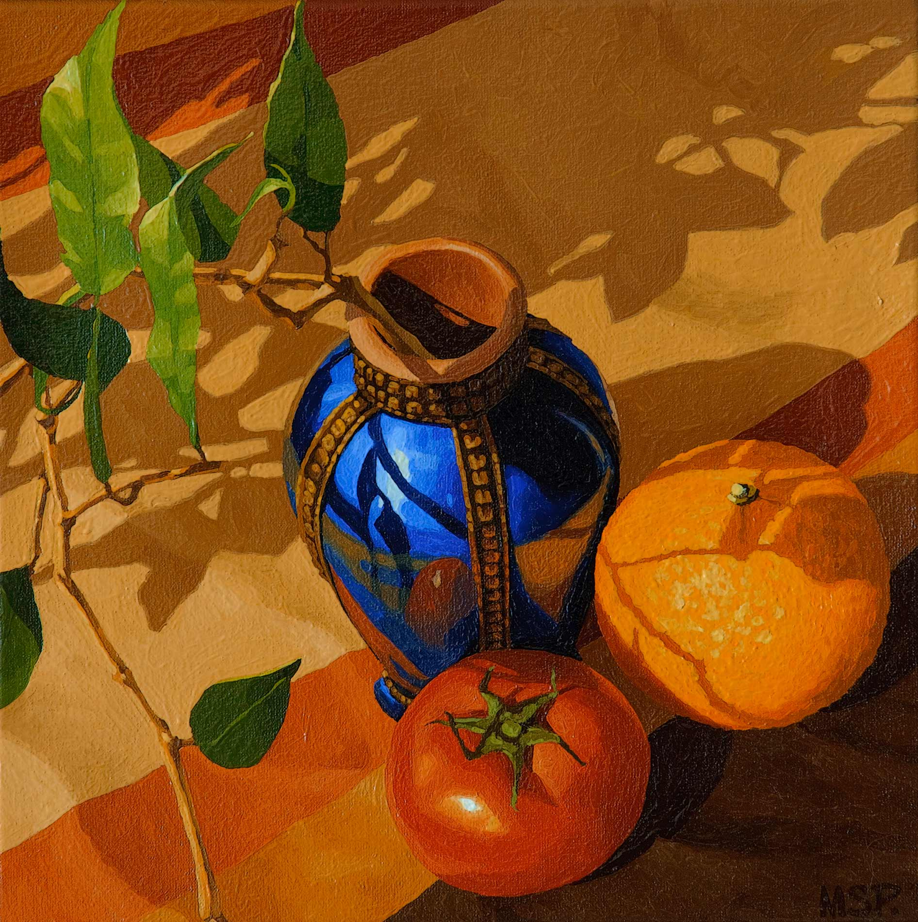 The blue vase of Morocco and fruits