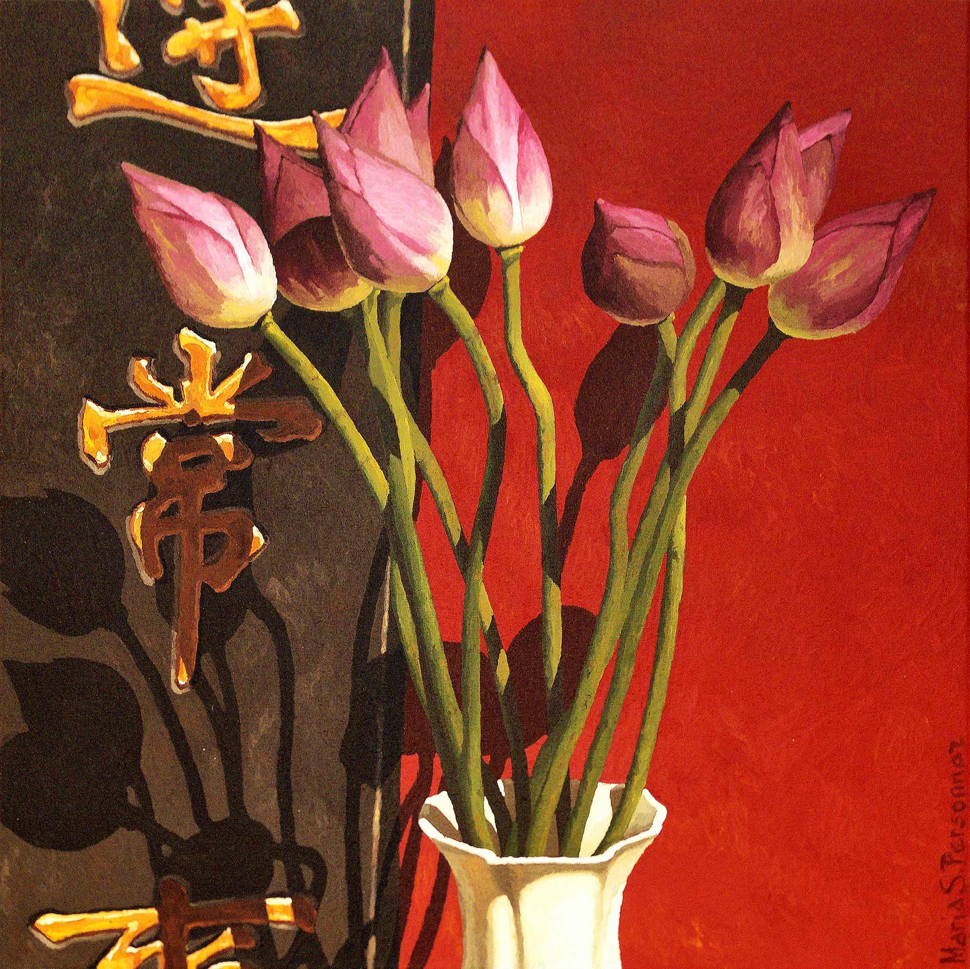 Ten lotus buds