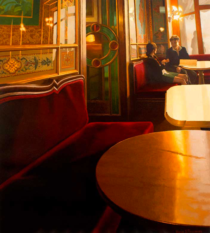 Velvet and golds at the Cafe Florian, Venice