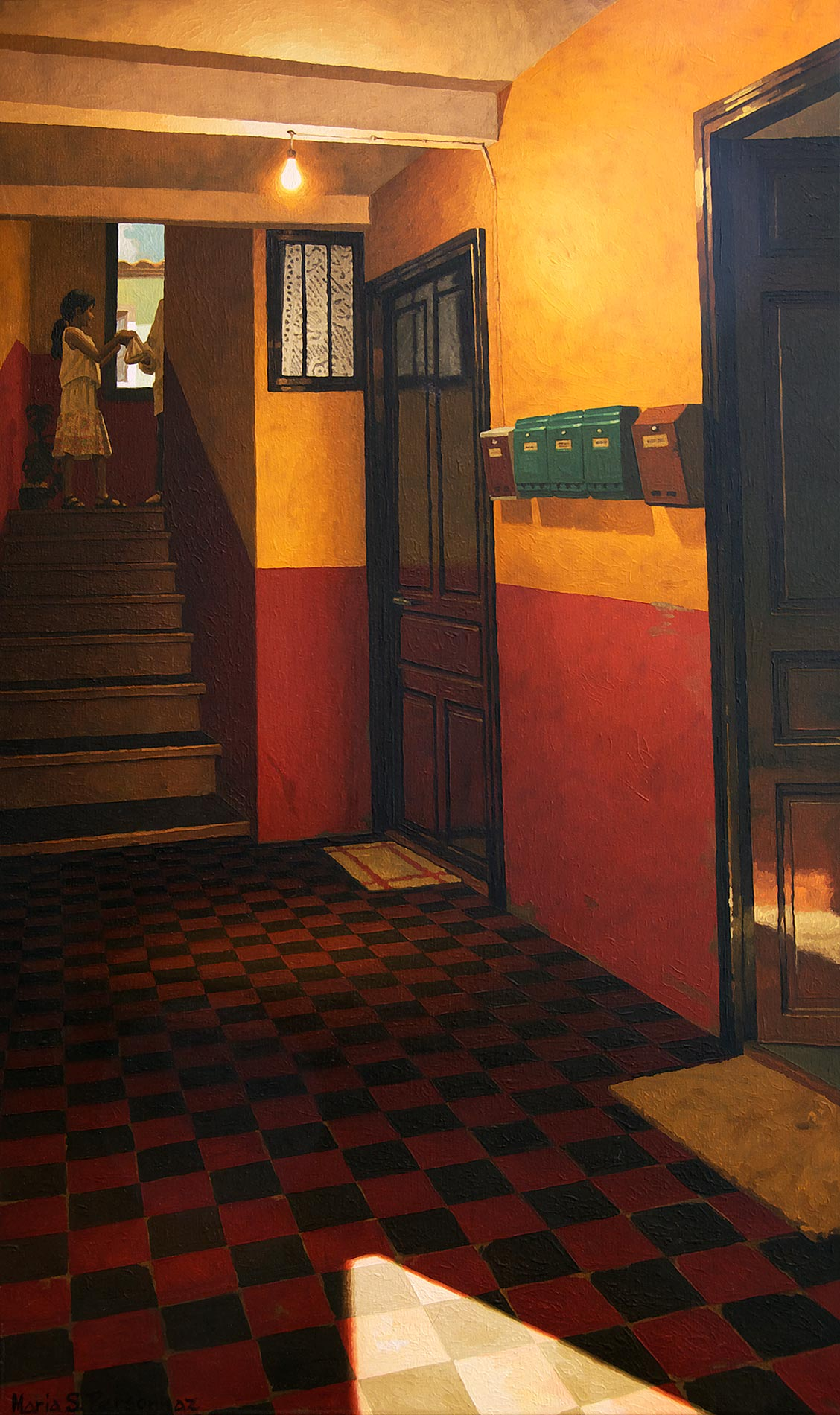 Entrance hall in spanish colours
