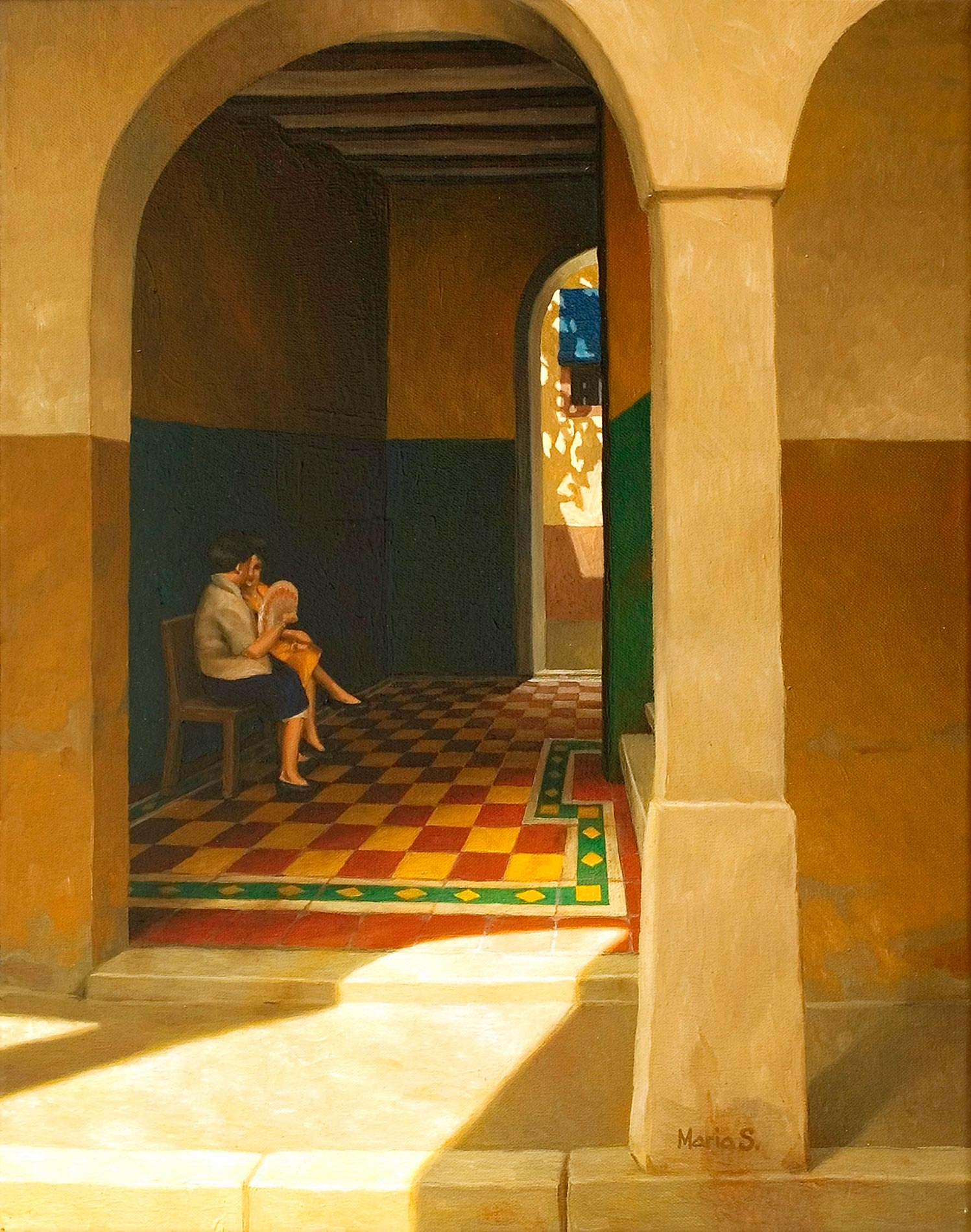 Conversation in the shade