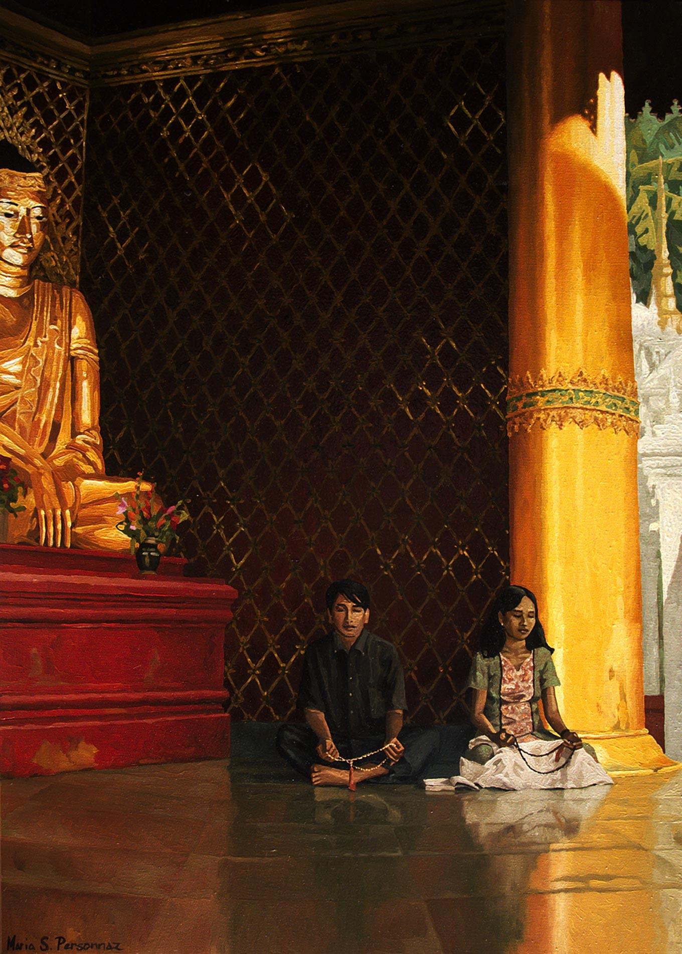 Couple at the Shwedagon, Yangon