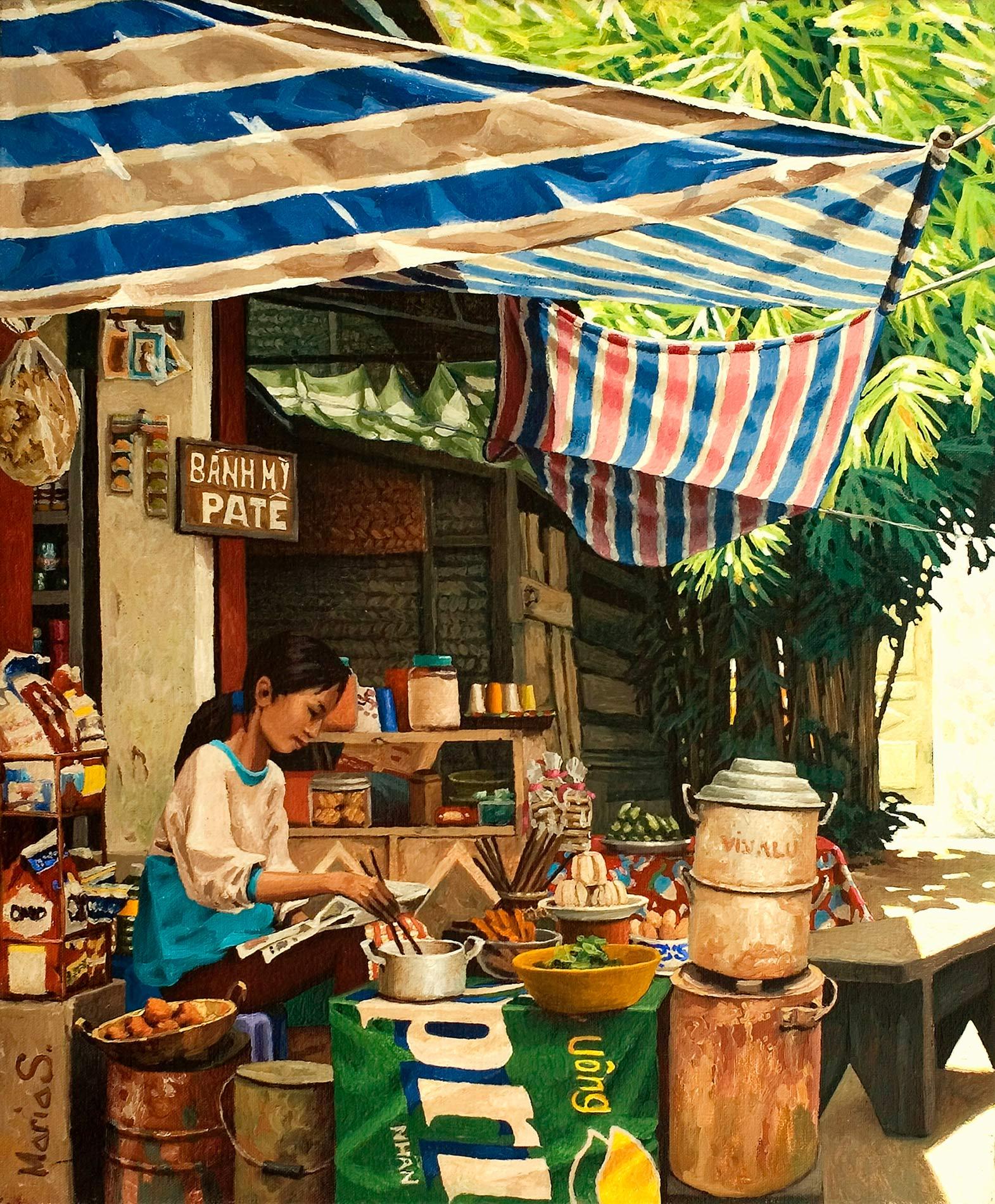 Stall in Công Vi, Hanoi