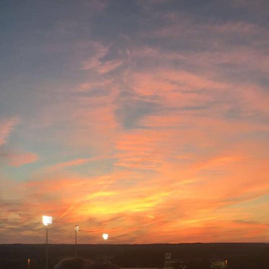 The horizon of the Genesee Valley - Geneseo is famous for its beautiful sunsets. Photo credit: Mallory Mrozinski, 2018