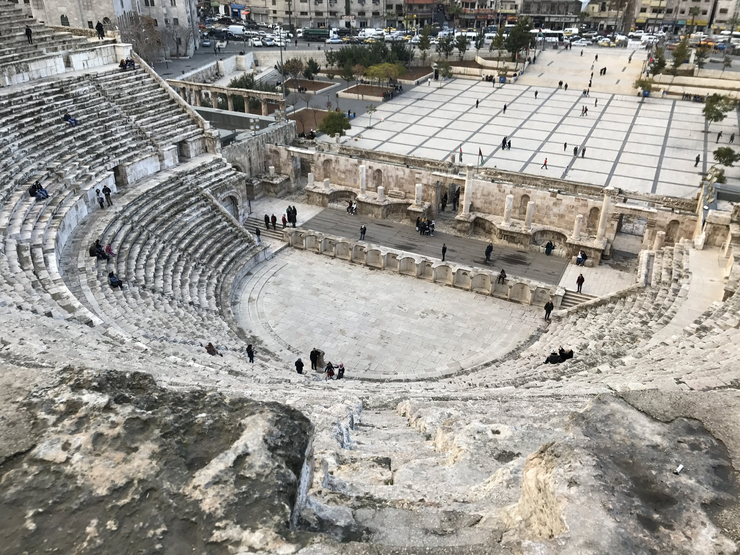 The view from the top of the Roman Amphitheater. Photo Credit: Samantha Manno, Spring 2018.