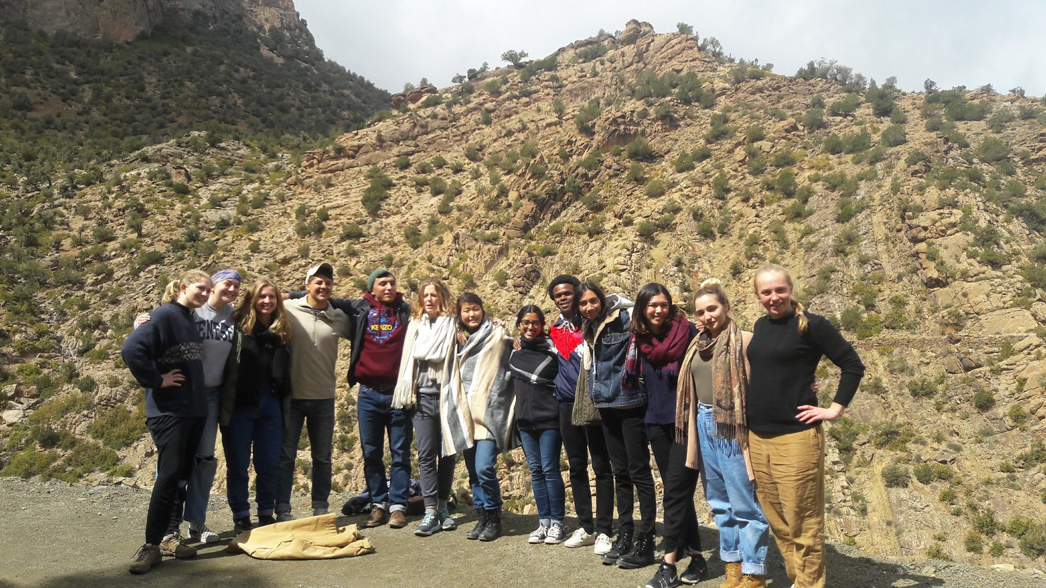 Students toured the village of Aguddim and hiked the surrounding mountains with a Moroccan mountain guide. Photo credit: Nabila Jaber, 2018