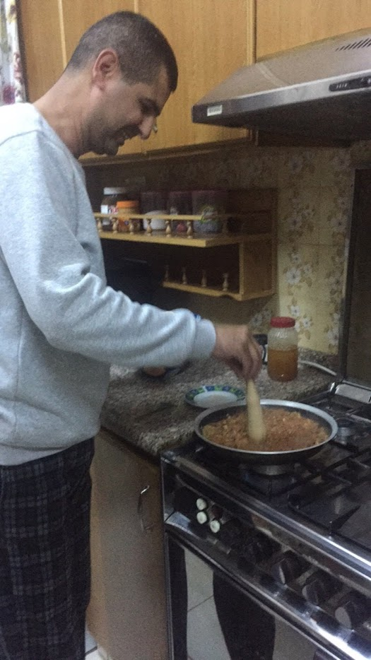 During my time in Amman, I lived with a host family. One night after studying, I came home to my host dad making foul, a traditional Arabic dish consisting of tomatoes, beans, and seasoning. It is traditionally served warm on fresh pita bread. It is always nice to come home to a fresh meal and informally learn about Arab culture and food. My host dad would sometimes give us Arabic lessons at the dinner table and those were often some of the most relevant and educational lessons. I enjoyed being able to live with locals who could help provide a very holistic experience while I was studying abroad. Photo credit: Meade, 2018.
