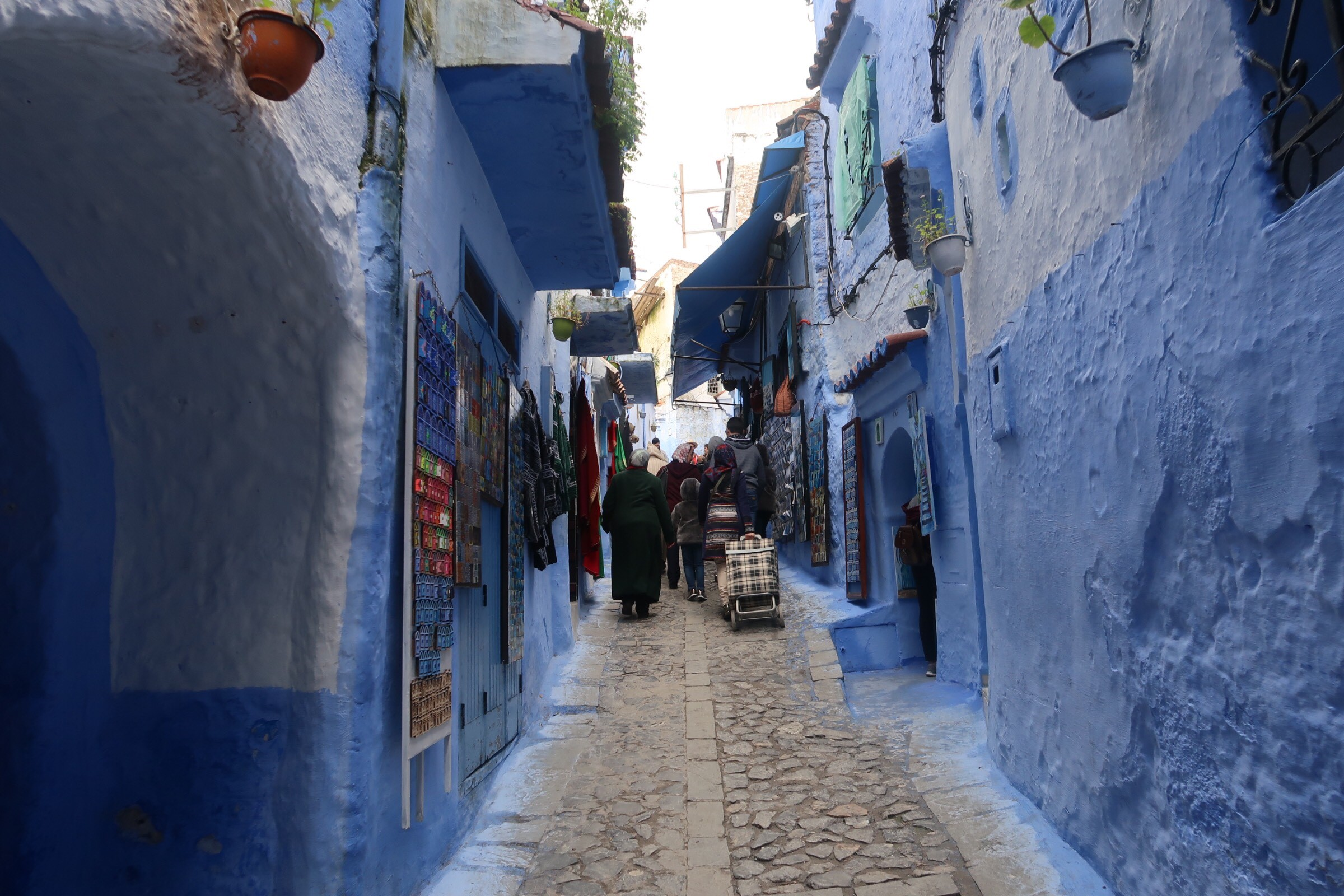 The medina in Chefchaouen. Photo credit: Rehman, 2018