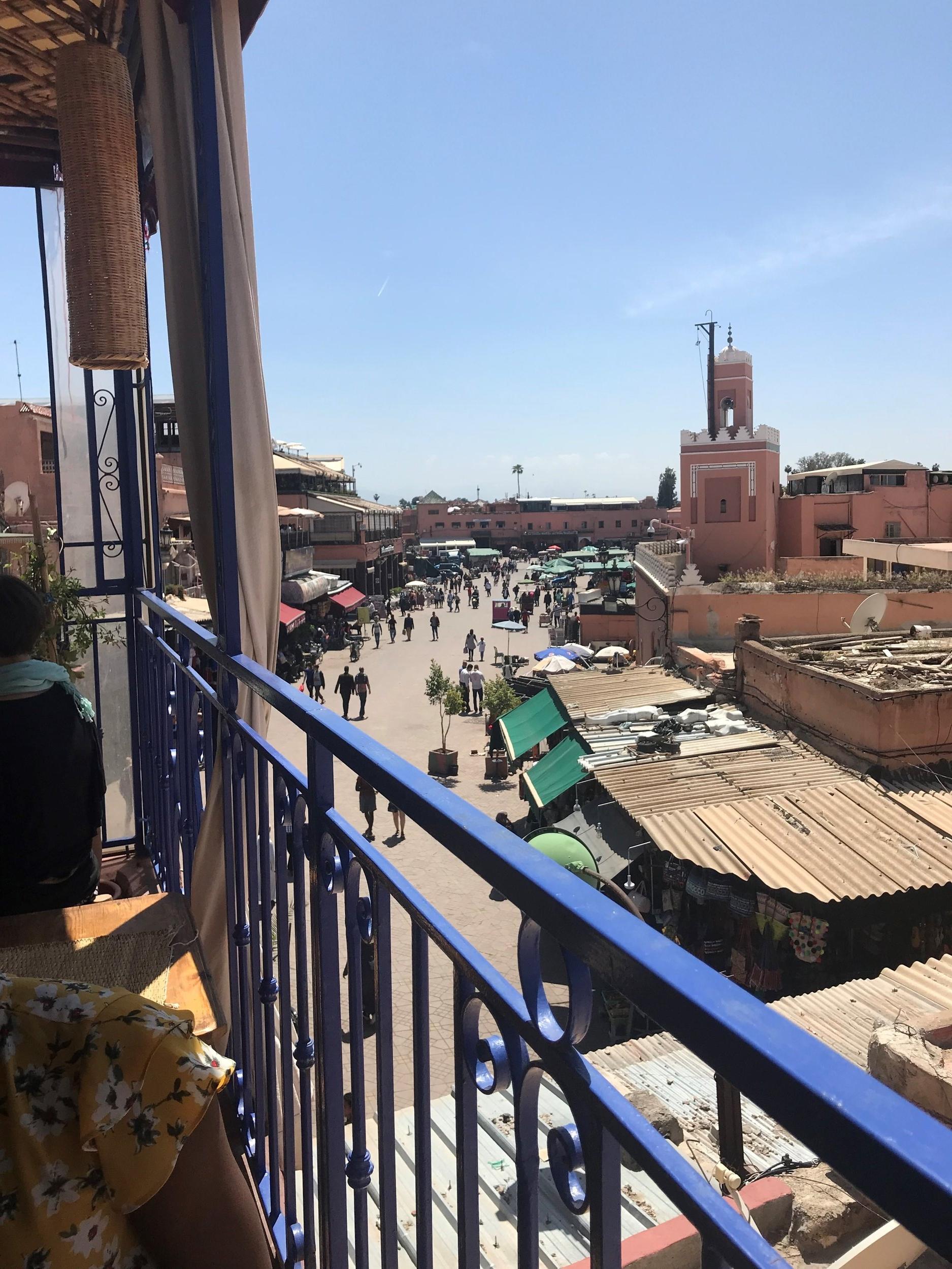 The medina in Marrakech. Photo credit: Rehman, 2018