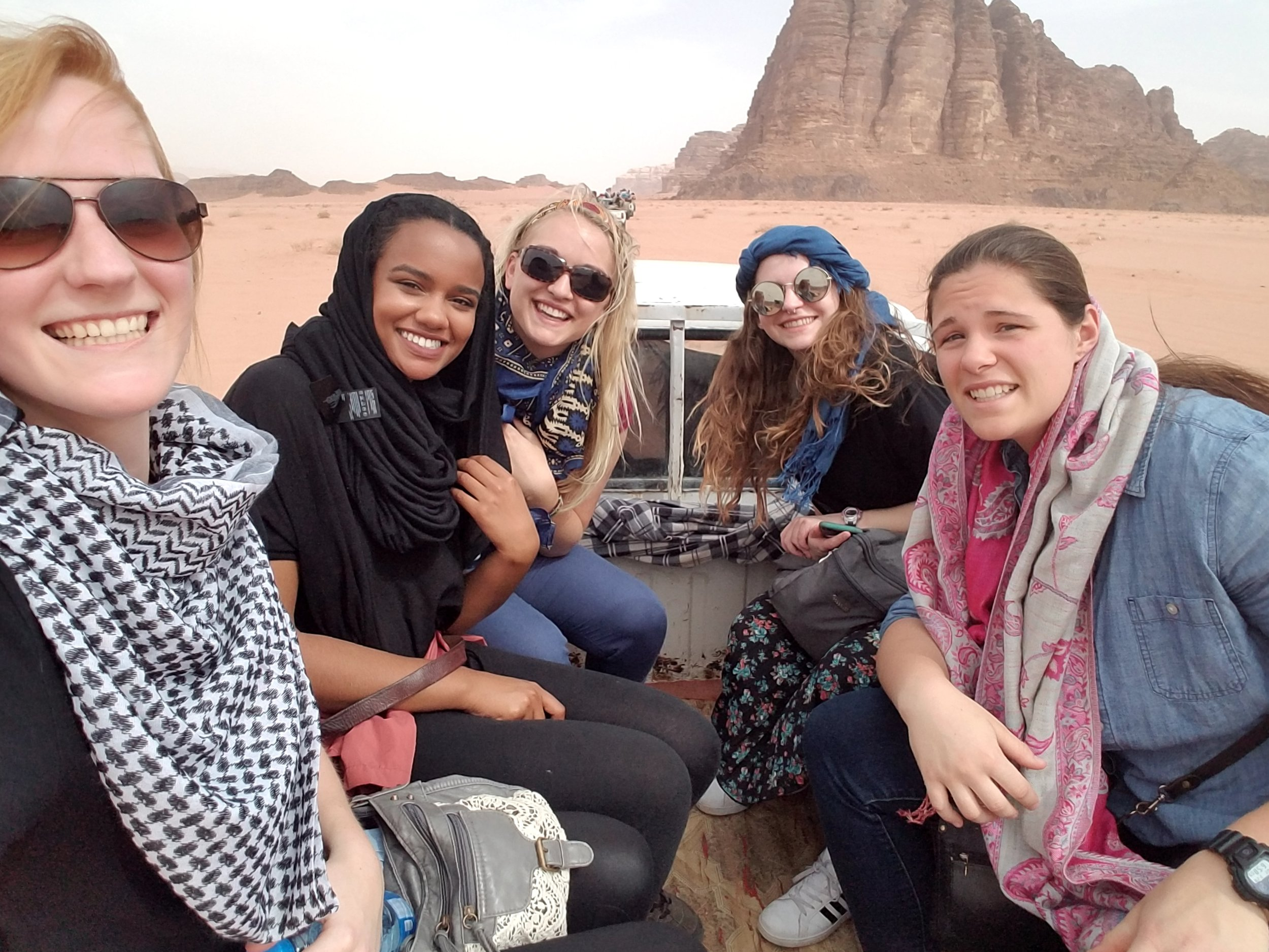 Exploring Wadi Rum with new friends! Photo credit: Zachman, 2018