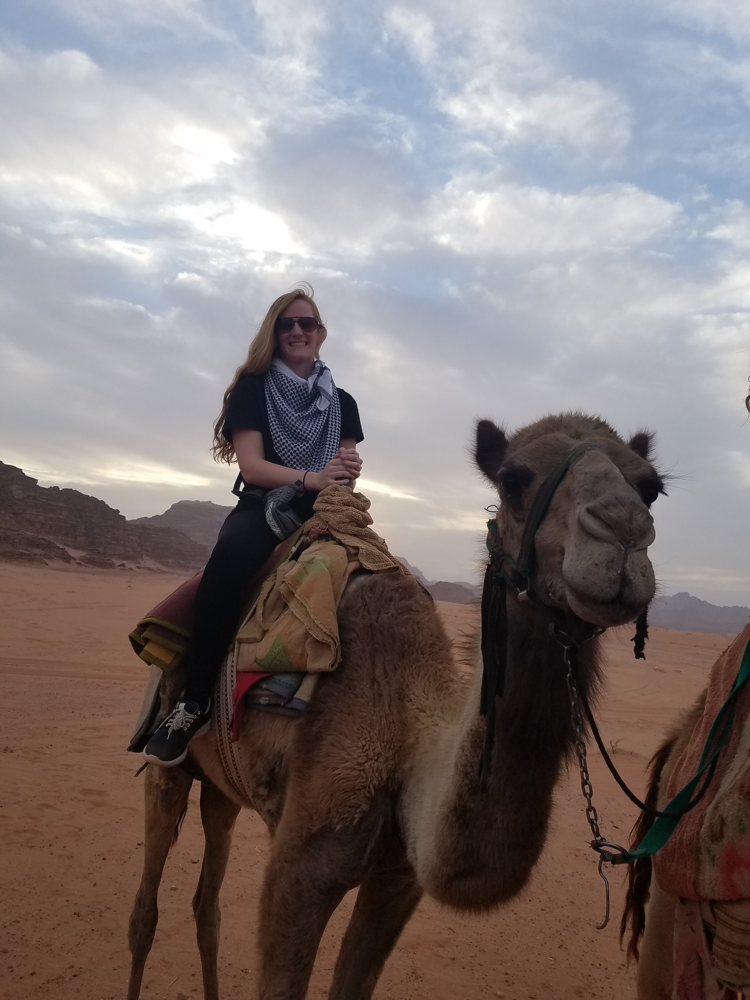 It may be a stereotype, but it is fun to ride at least one camel in Jordan. Photo credit: Zachman, 2018