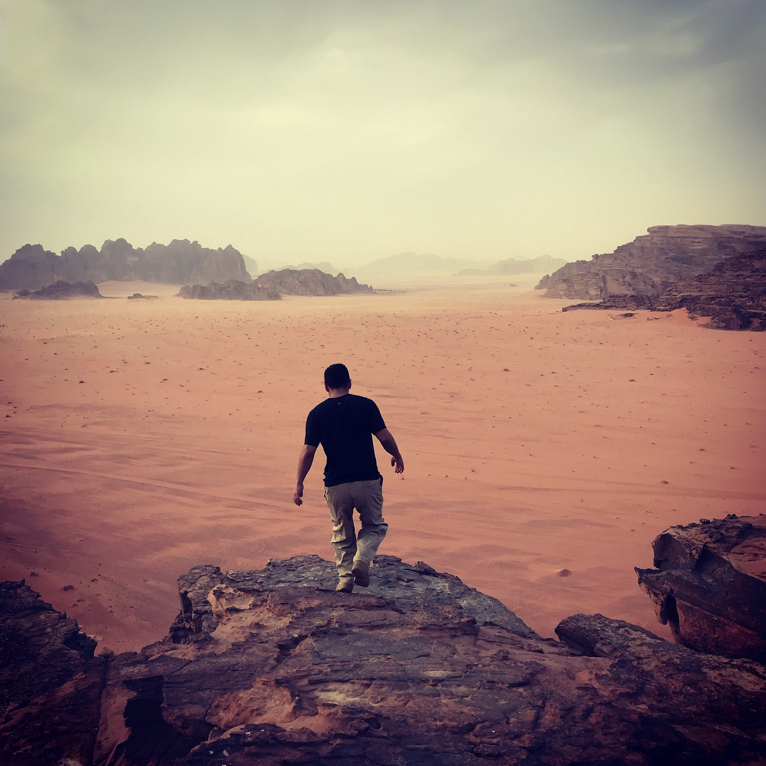 This photo from a Jordan spring 2018 student during his time in Wadi Rum won second place!