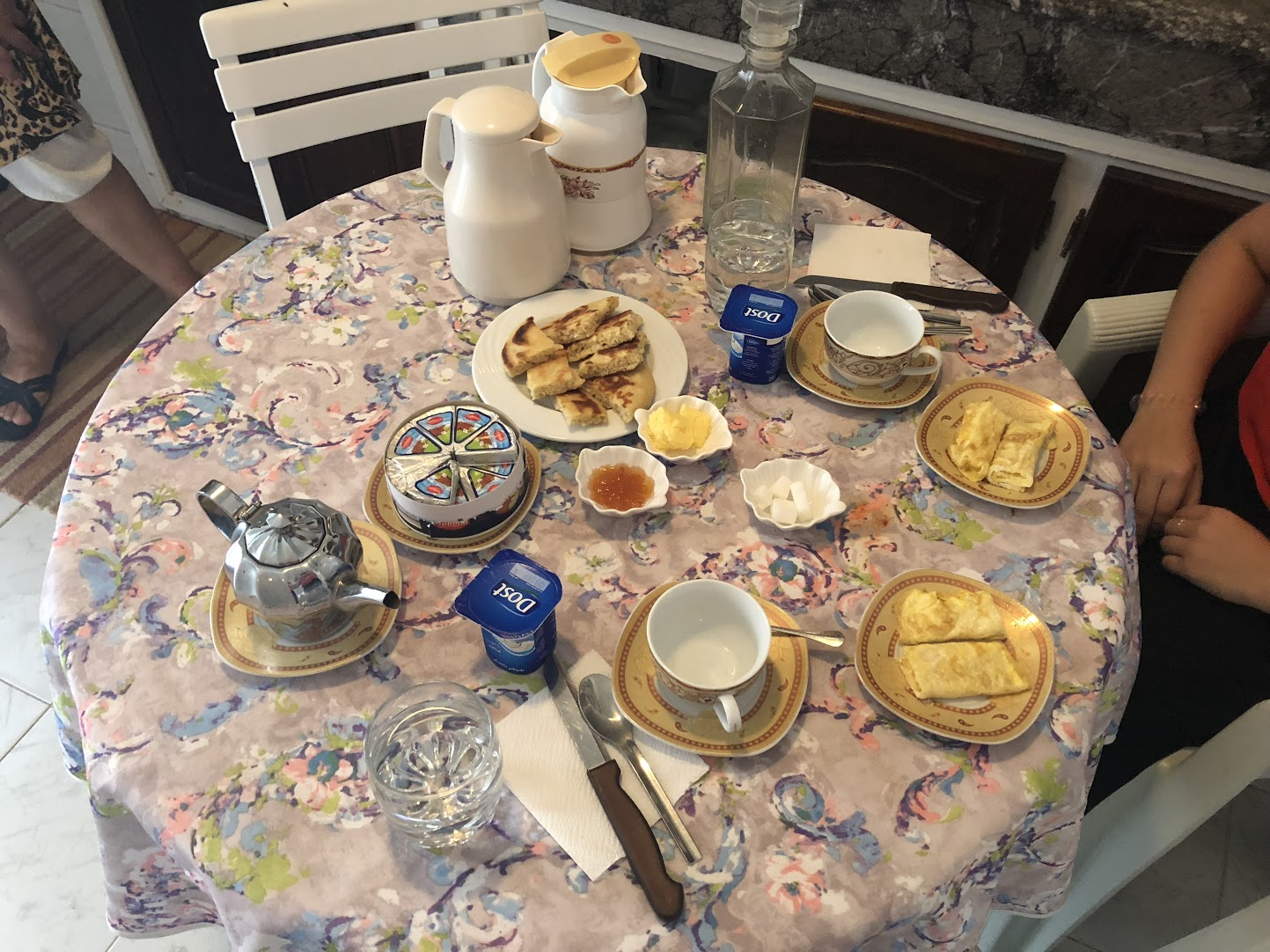 My first home-cooked breakfast in Morocco. Photo credit: Szabo, 2018