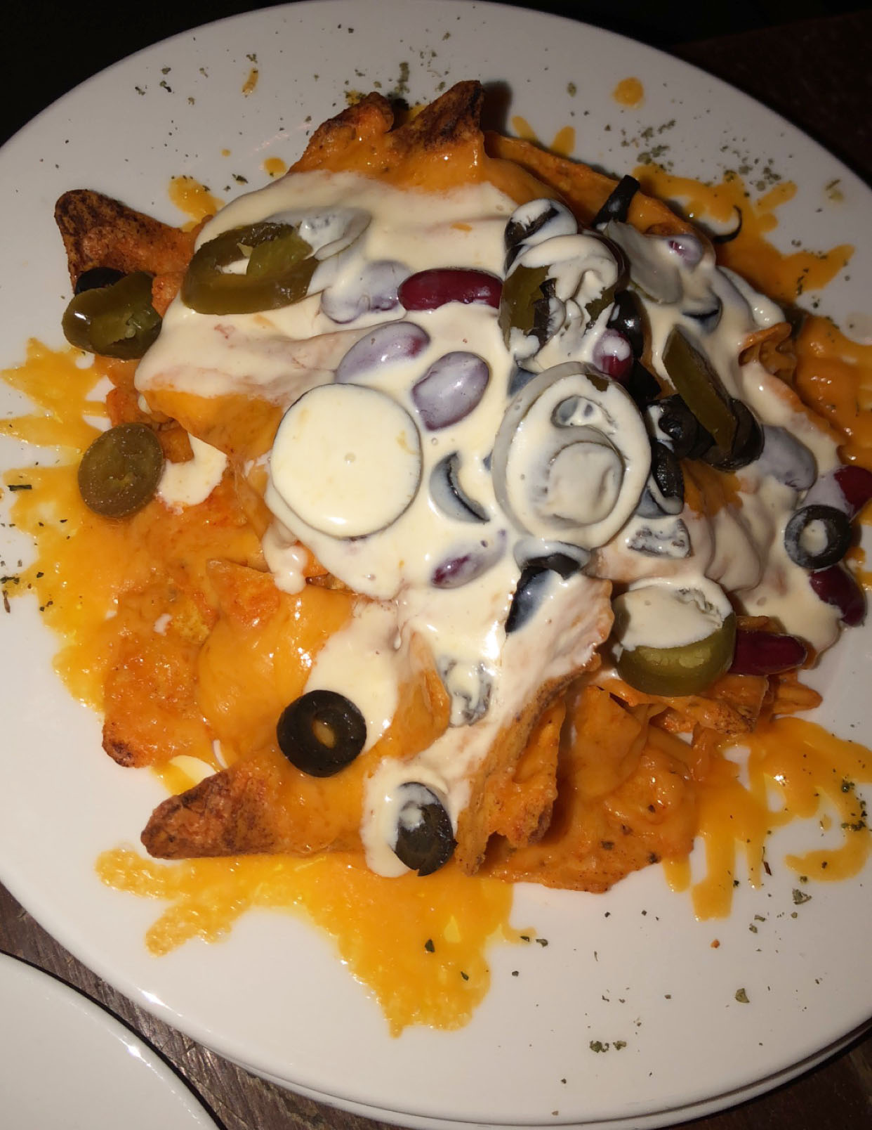 More nachos! These are from the Rustic Eatery in Weibdah. Photo credit: Arguin, 2019