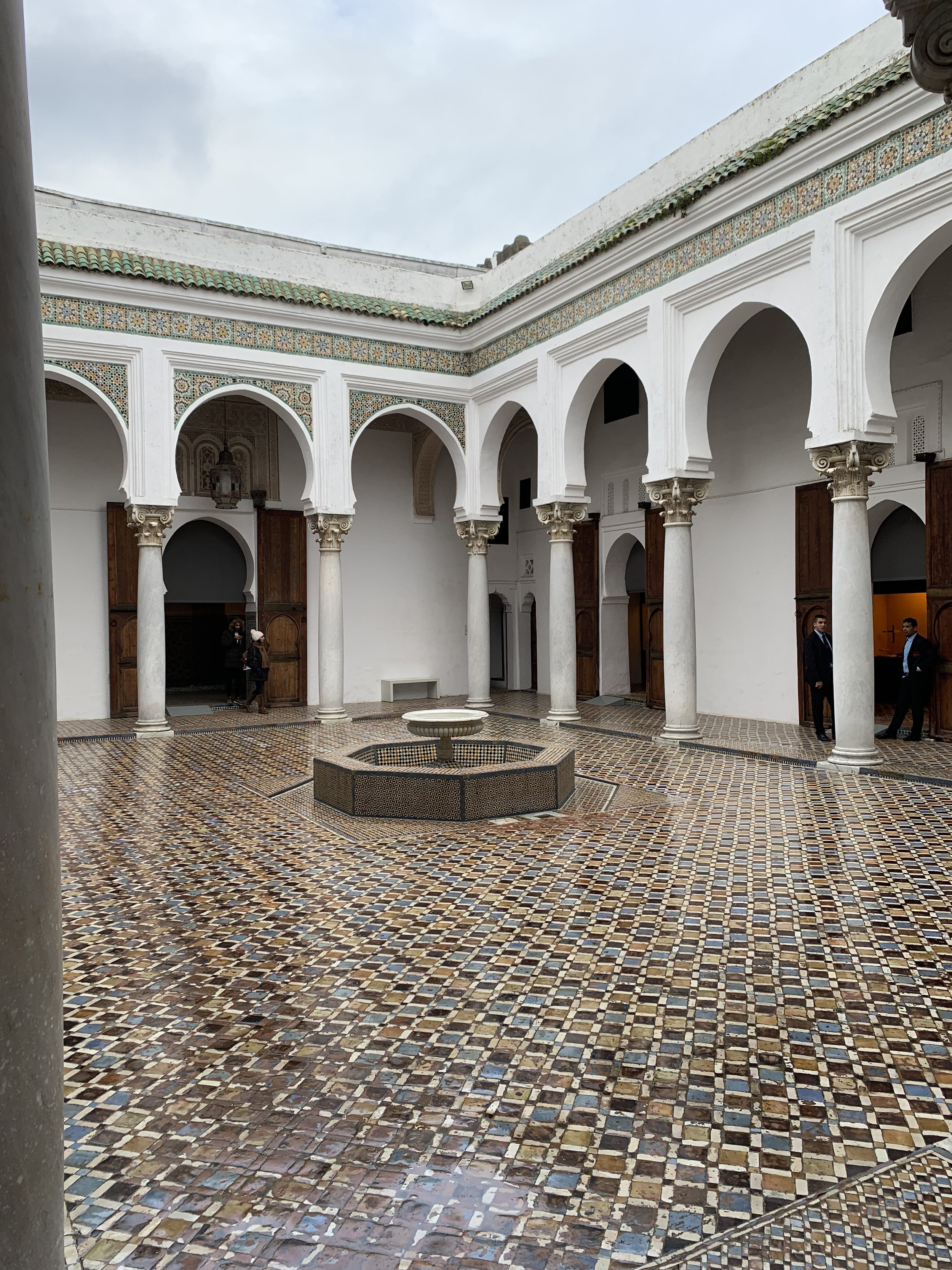 The Kasbah Museum of Tangier features beautiful courtyards constructed with incredible detail and craftsmanship. Photo Credit: M. Aboko-Cole, Spring 2019.