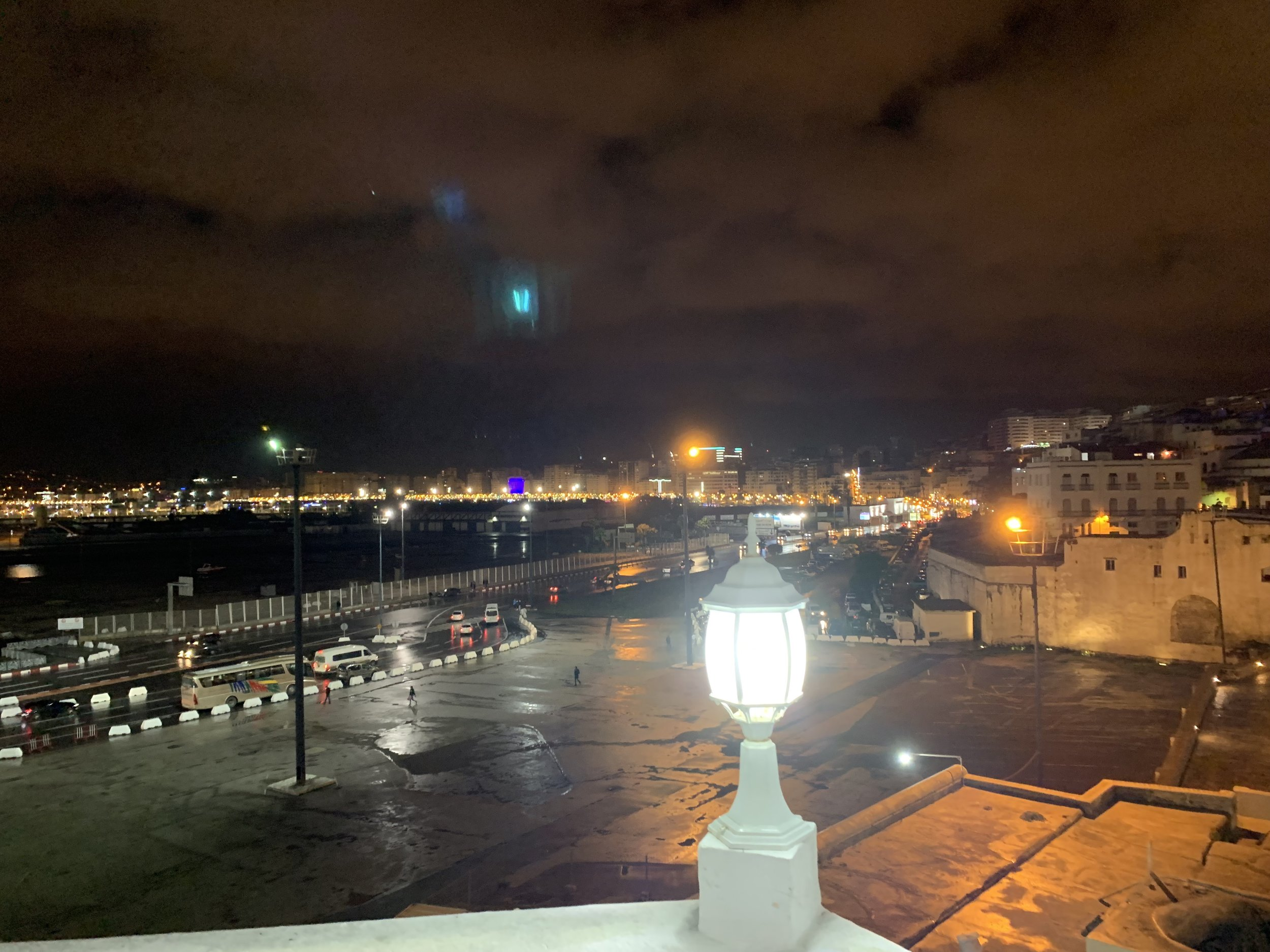 Situated at the northernmost tip of the country on the Strait of Gibraltar, Tangier is a sight to be seen at night. The city is renowned as a pseudo-international center with Spain only 8 miles away across the straight and Tangier positioned at the mouth of the Mediterranean Sea. Photo Credit: M. Aboko-Cole, Spring 2019.