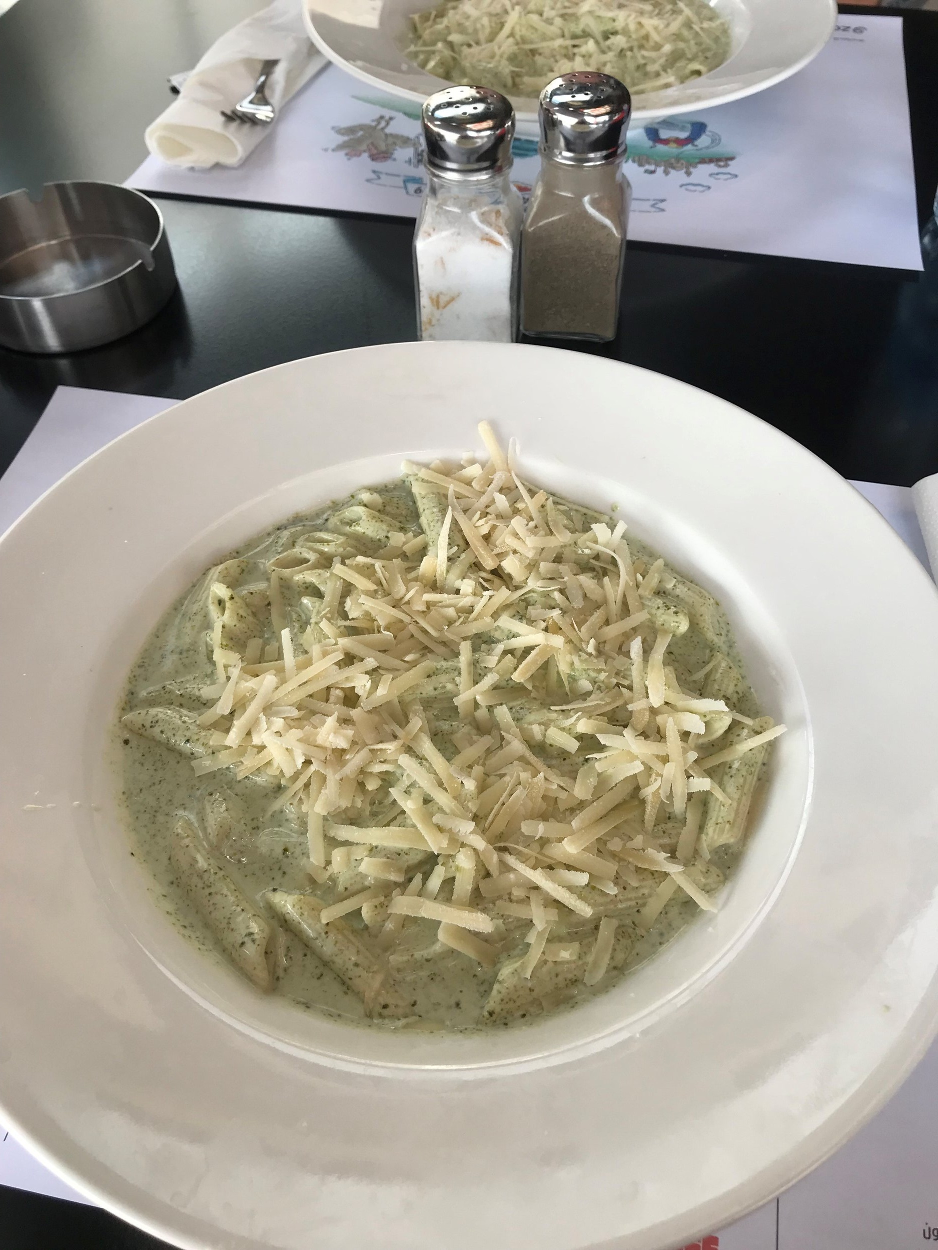 6. Vis a Vis Café in Abdoun  — Best and cheapest (3.5 JD) pesto pasta in the city. Photo Credit: Arguin, 2019