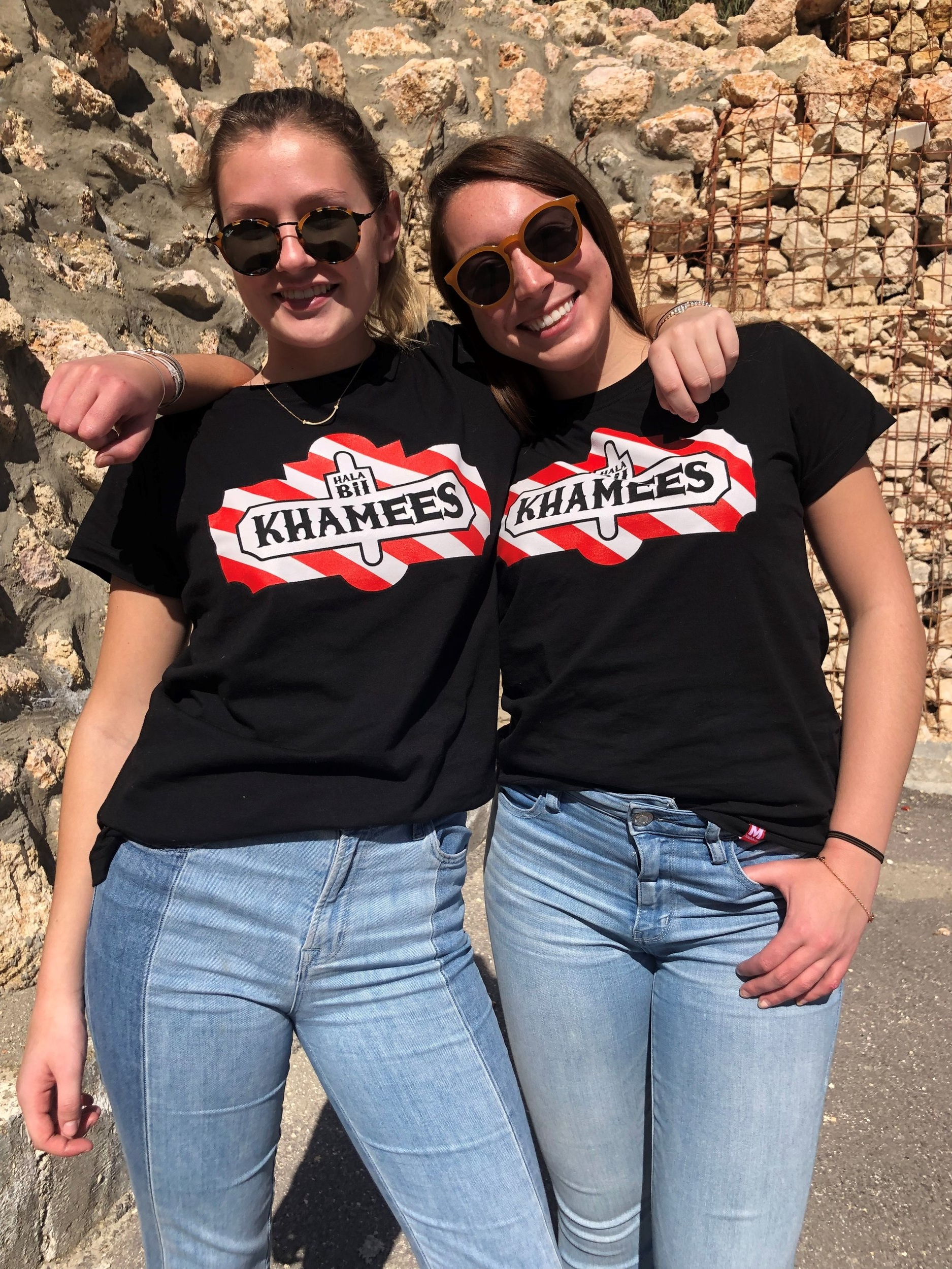 12. Jobedu/Mlabbas in Weibdeh/Rainbow Street — Best and funniest T-shirt shops! Me and my roommate Sophia wearing our favorite shirts: Thank God It's Thursday! (since the weekends start on Thursday in Jordan…) Photo Credit: Arguin, 2019