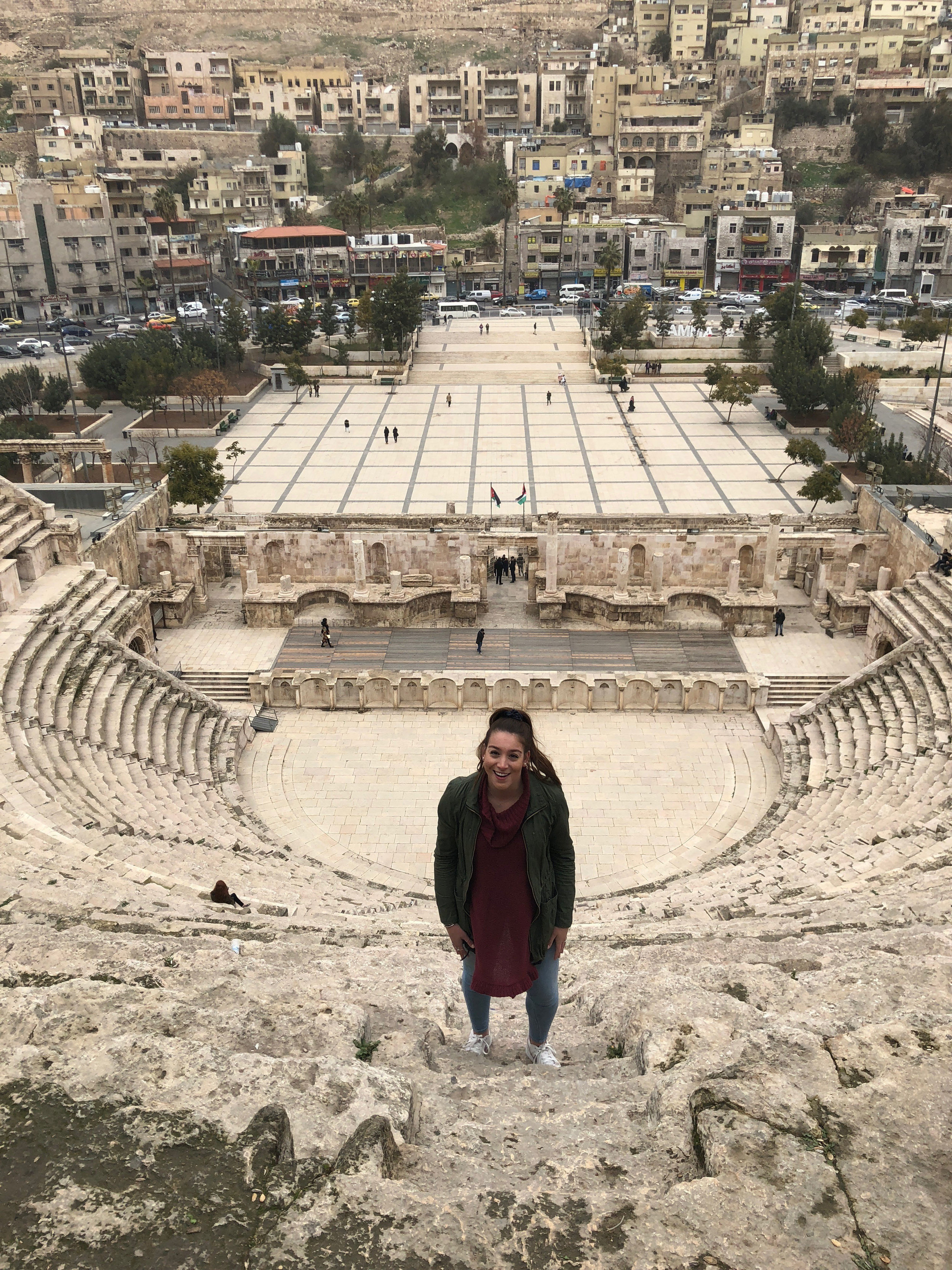 1. One of my first adventures in Amman was a city tour to the Roman Amphitheatre and Citadel with Amideast. Photo credit: Arguin, 2019