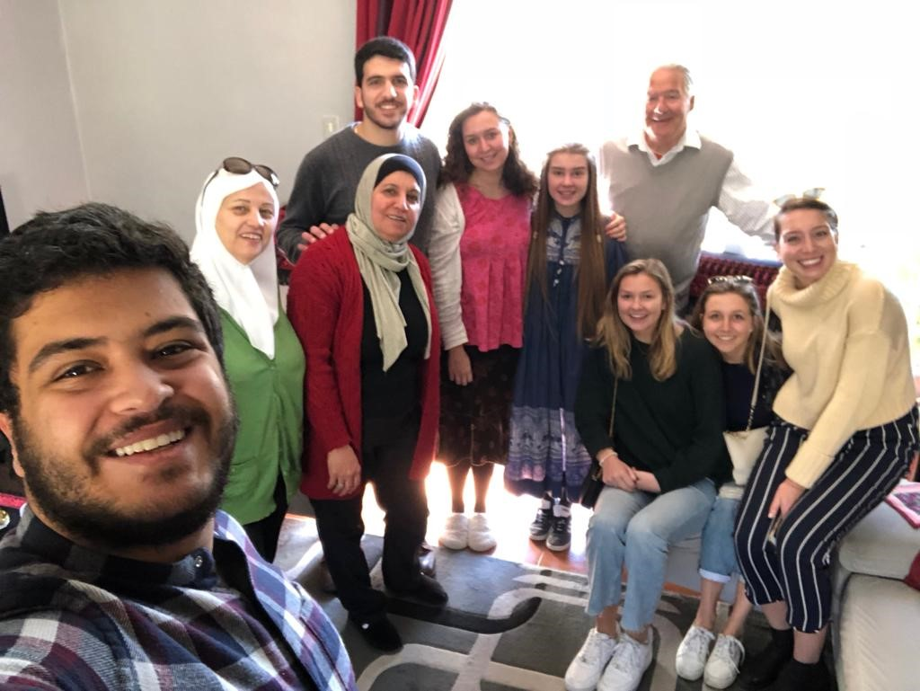 We made so many new friends along the way. This was from a Friday breakfast with our friend Sinaan, his family, and their host students from Norway! Photo credit: Arguin, 2019